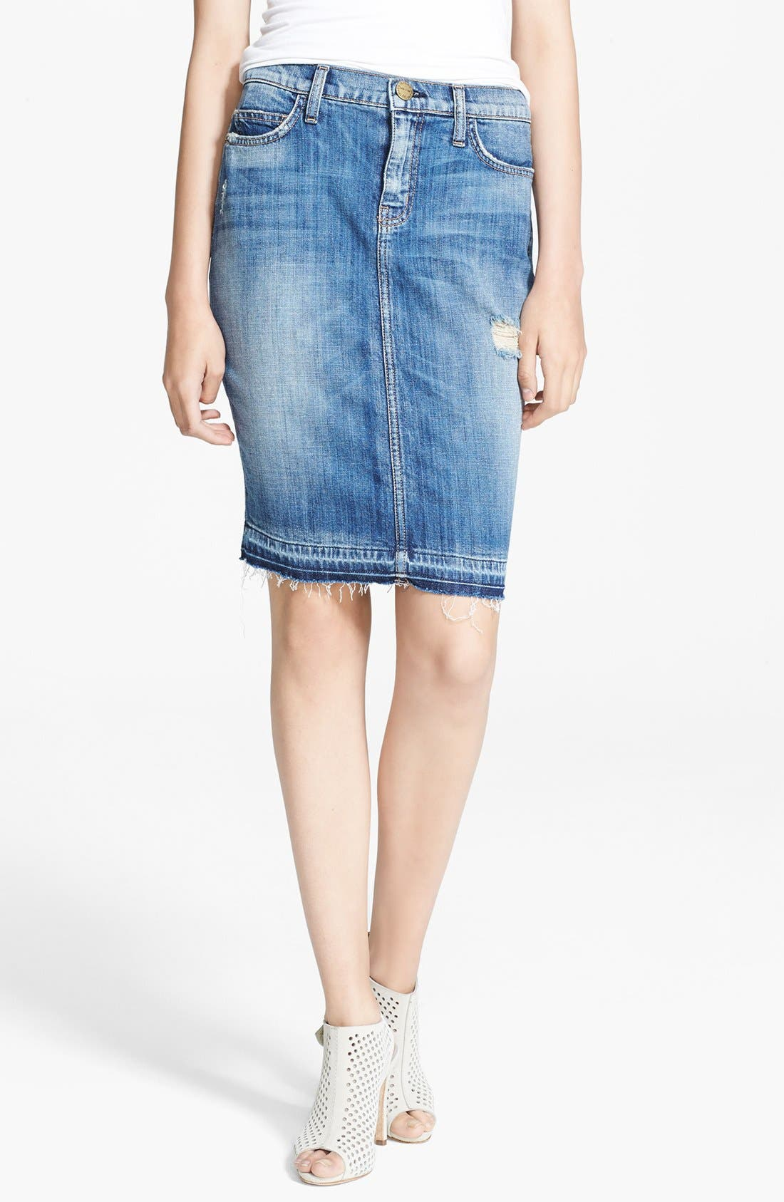 Main Image - Current/Elliott 'The Stiletto' Denim Pencil Skirt