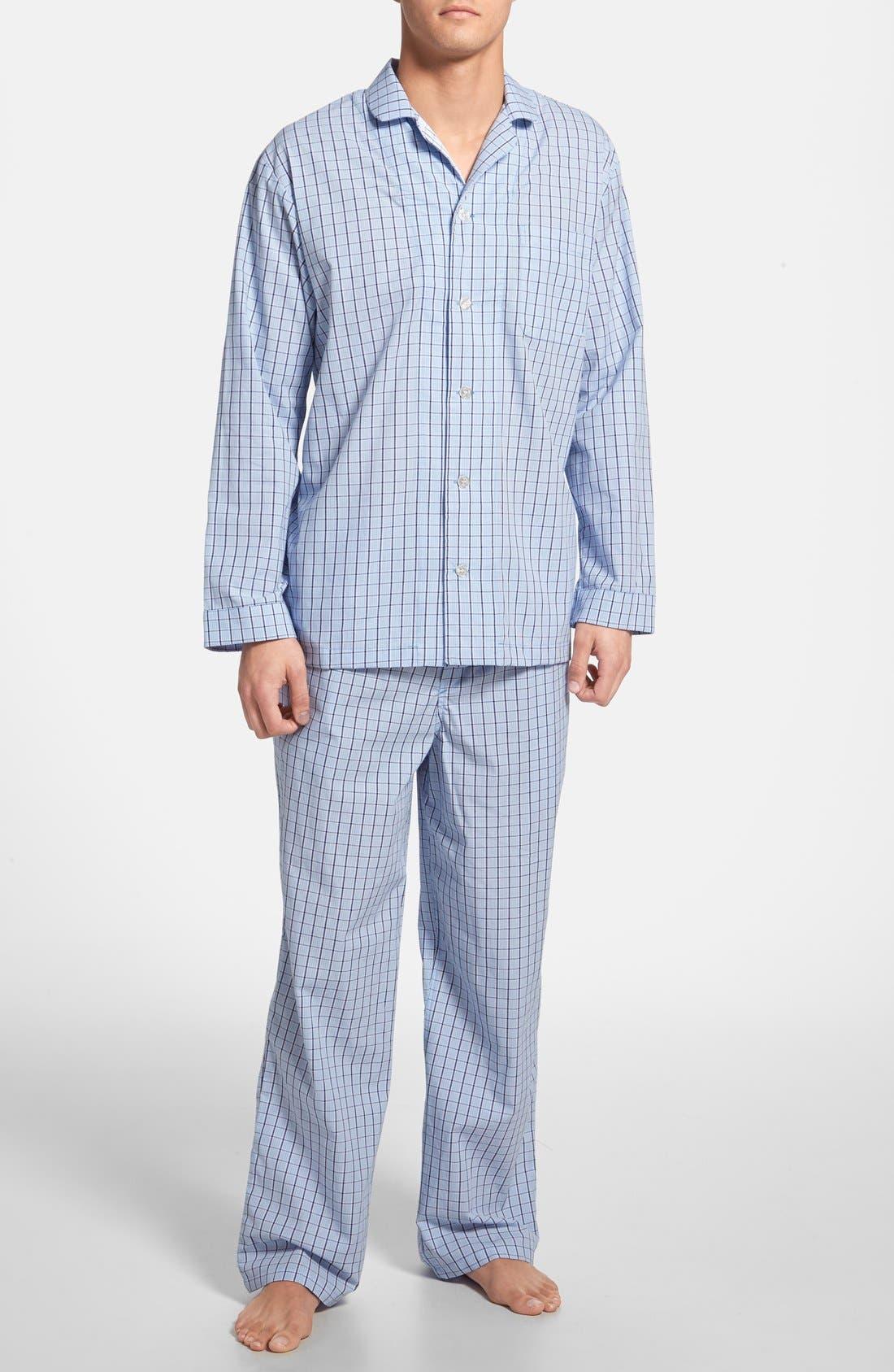 Alternate Image 1 Selected - Nordstrom Men's Shop Poplin Pajama Set