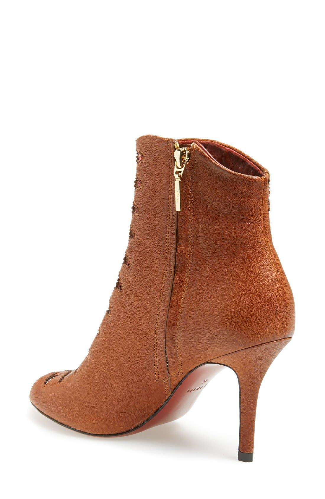 Alternate Image 2  - Aerin 'Carine' Peep Toe Leather Bootie (Women)