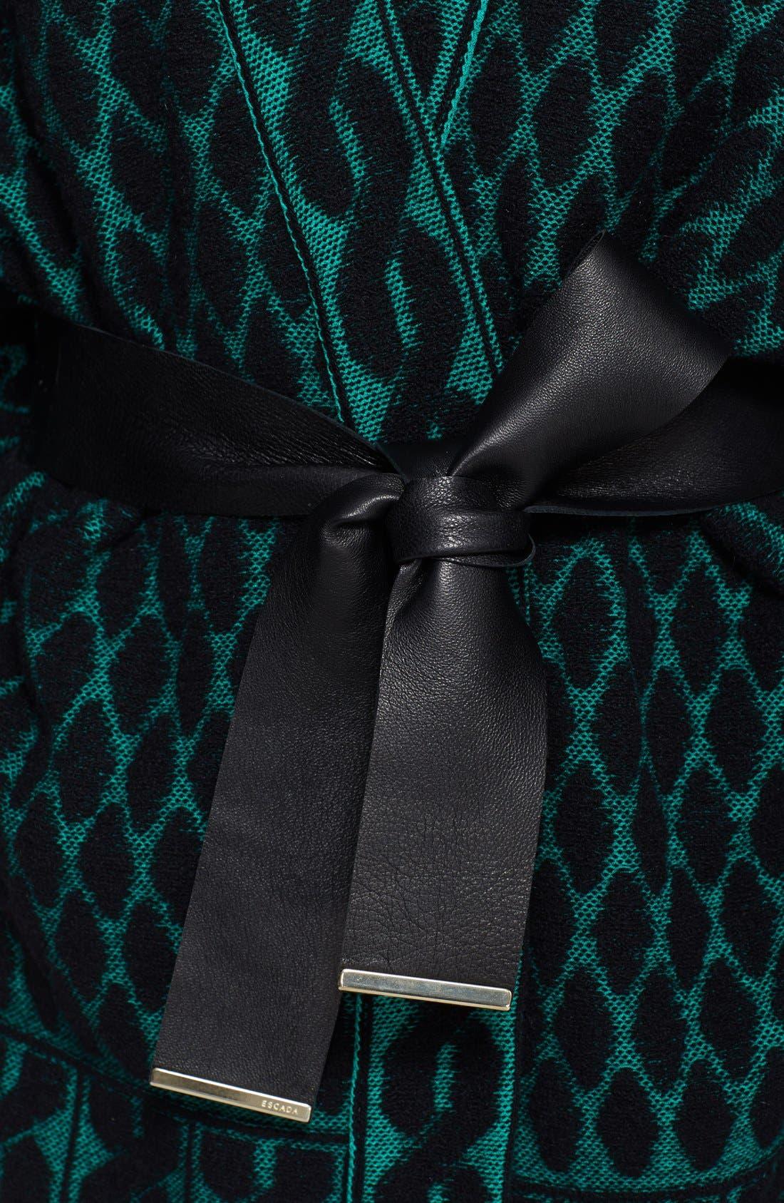 Alternate Image 3  - ESCADA Leather Belted Jacquard Knit Cardigan