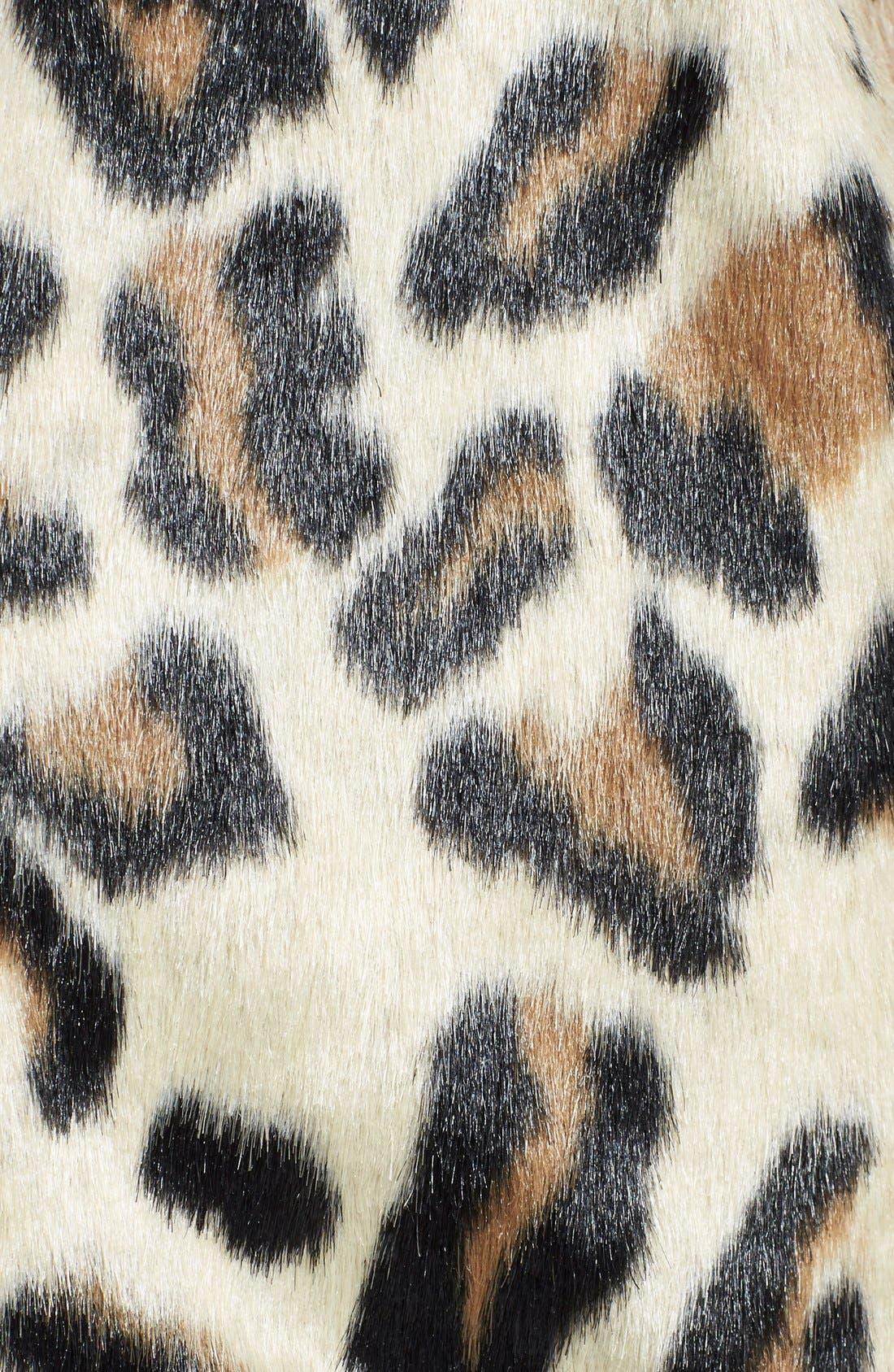 Alternate Image 3  - MICHAEL Michael Kors Faux Fur Front Boyfriend Cardigan