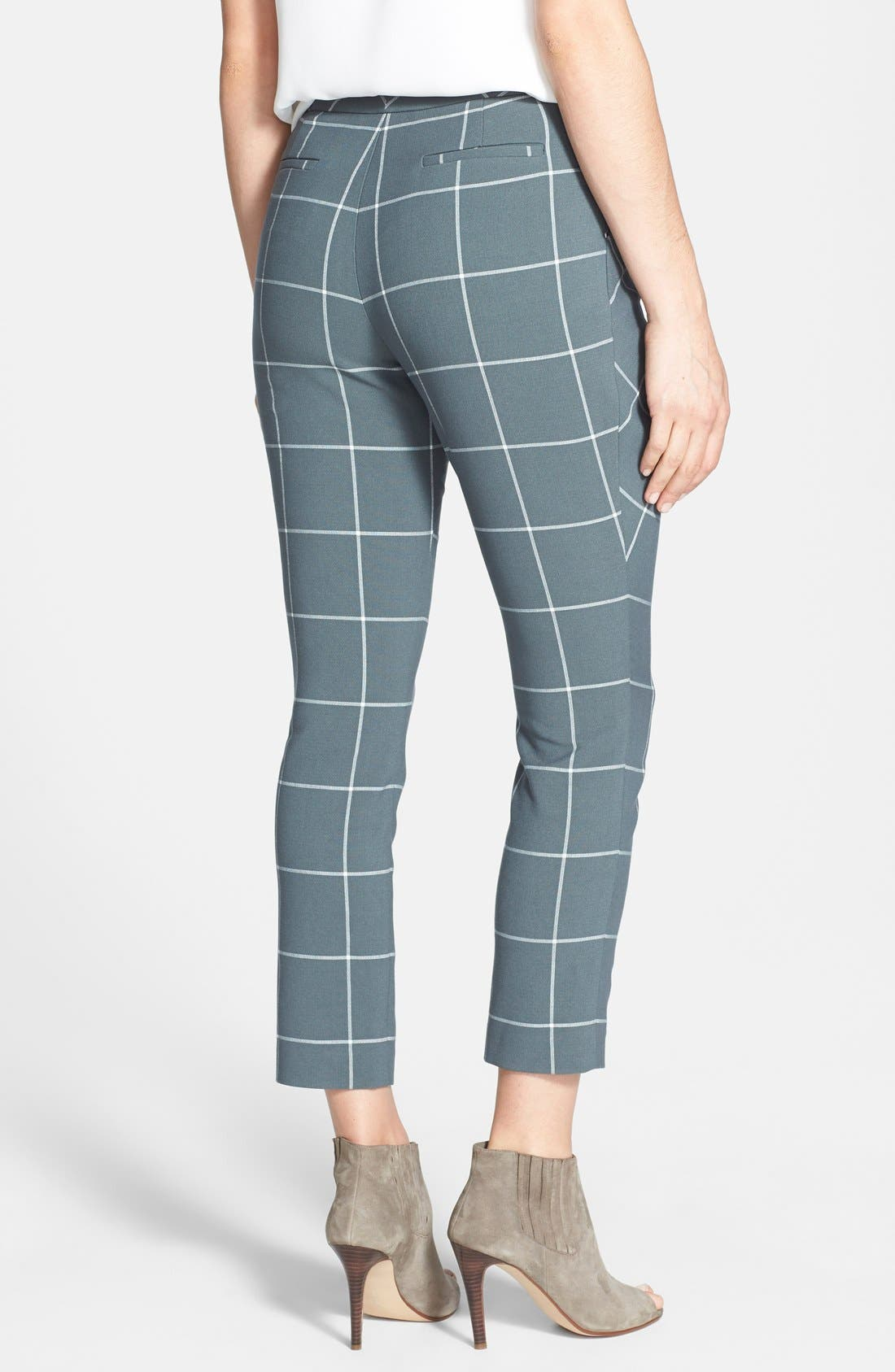 Alternate Image 2  - 1.STATE Window Pane Wrap Front Crop Pants (Nordstrom Exclusive)