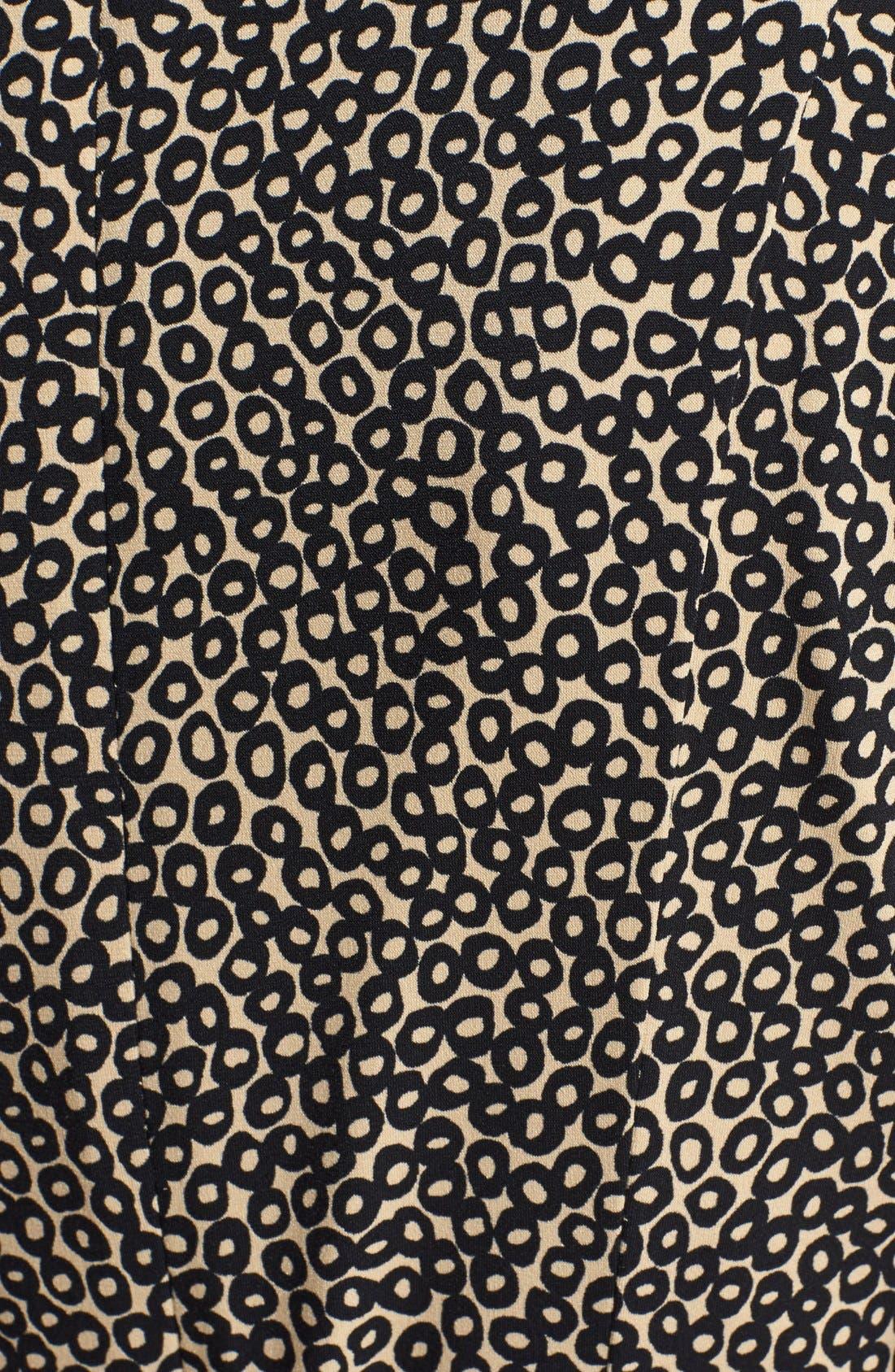 Alternate Image 4  - Eliza J Print Belted Fit & Flare Dress (Petite)