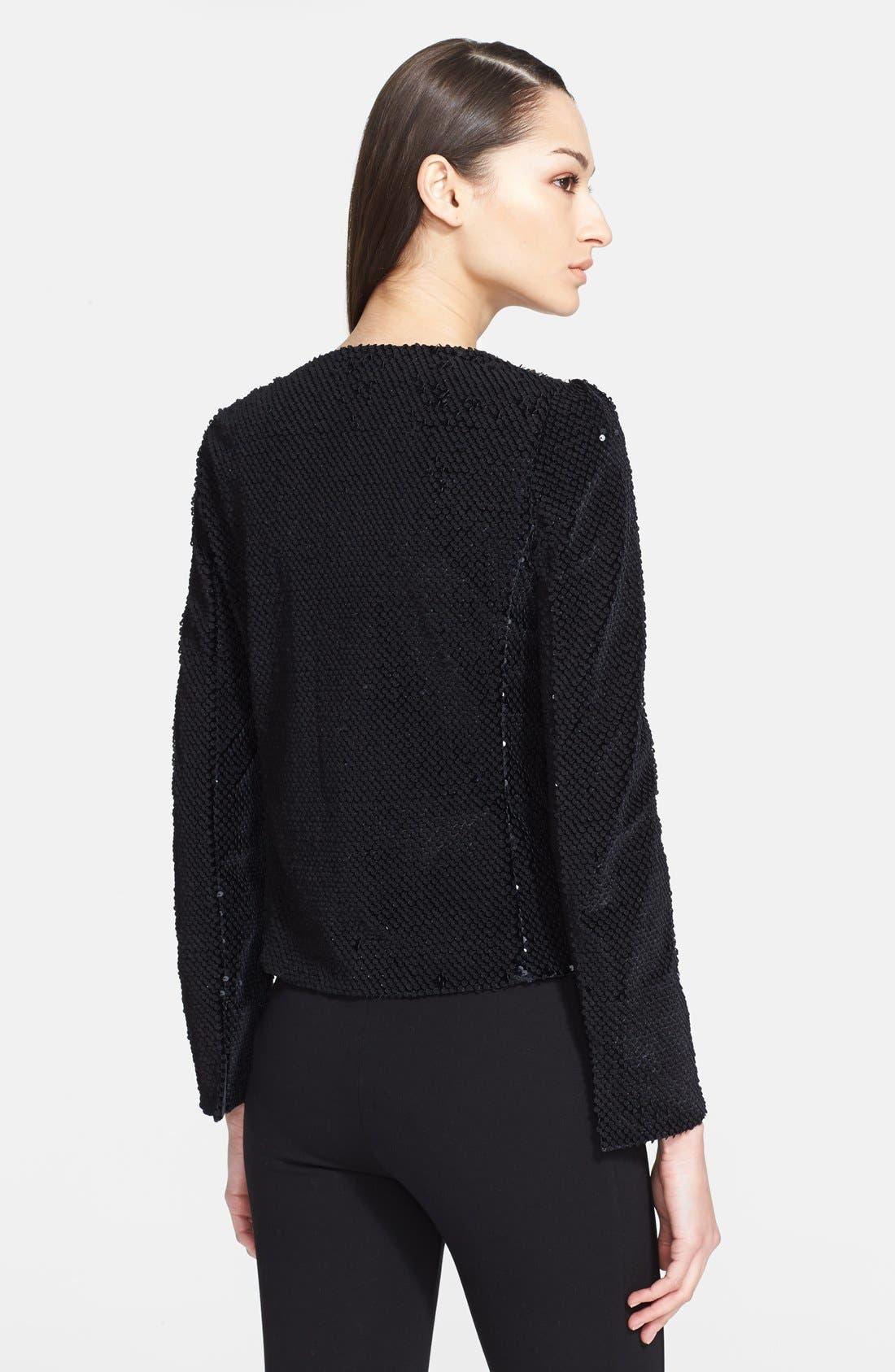 Alternate Image 2  - Armani Collezioni Paillette Velvet Jacket