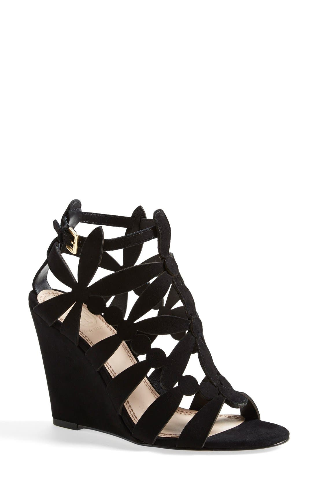 Main Image - Tory Burch 'Emerson' Cage Wedge Sandal (Women)