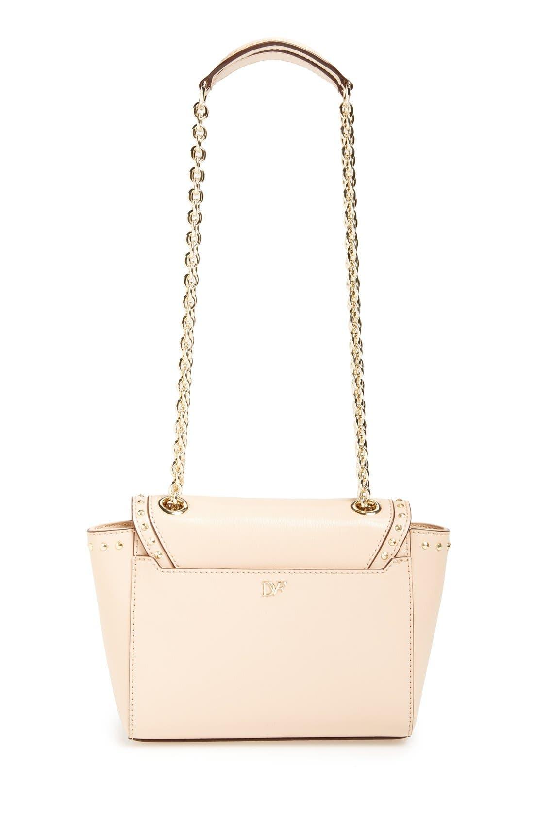 Alternate Image 4  - Diane von Furstenberg 'Mini 440' Stud Leather Crossbody Bag