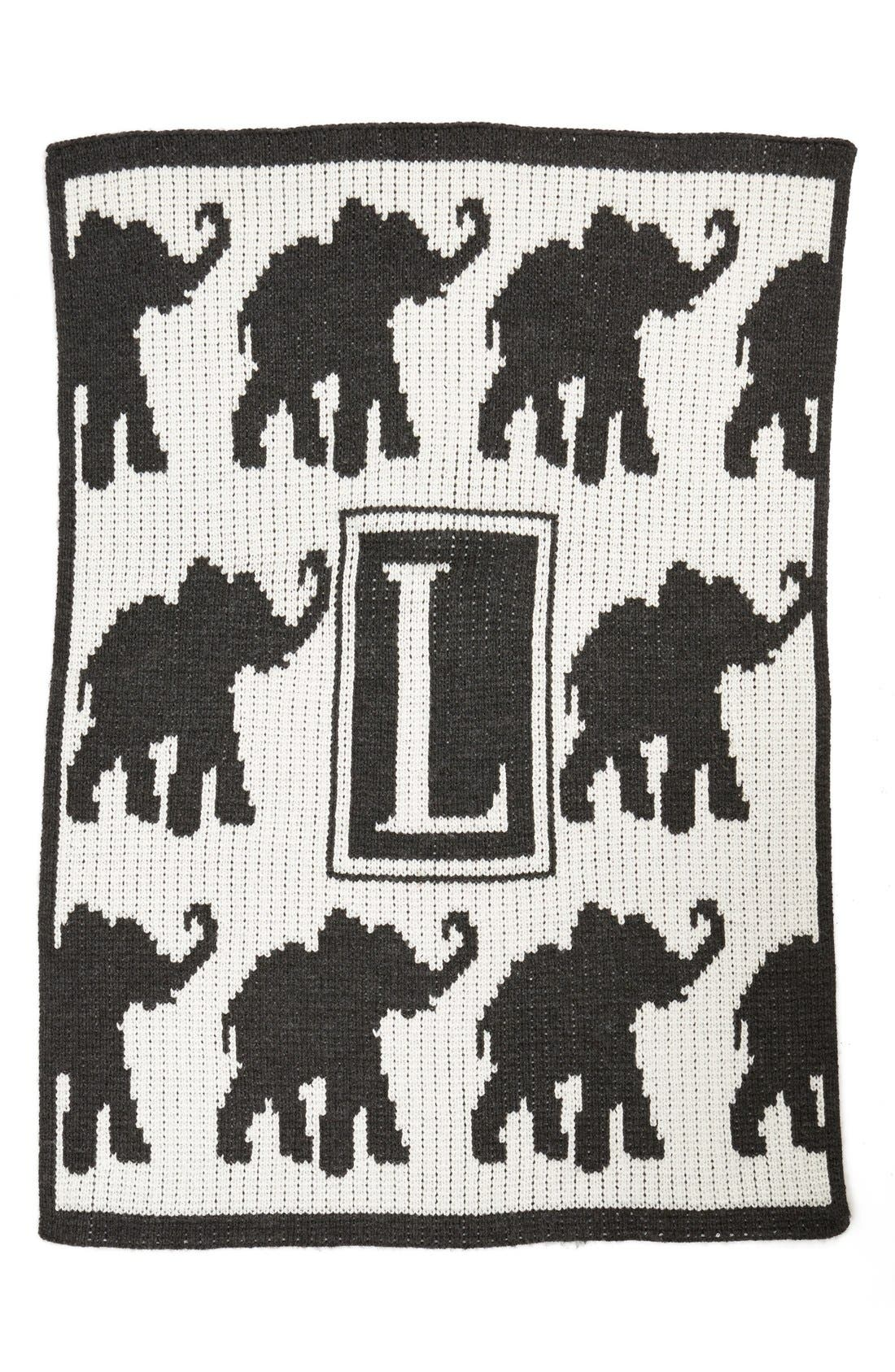 Alternate Image 1 Selected - Butterscotch Blankees 'Walking Elephants' Personalized Crib Blanket