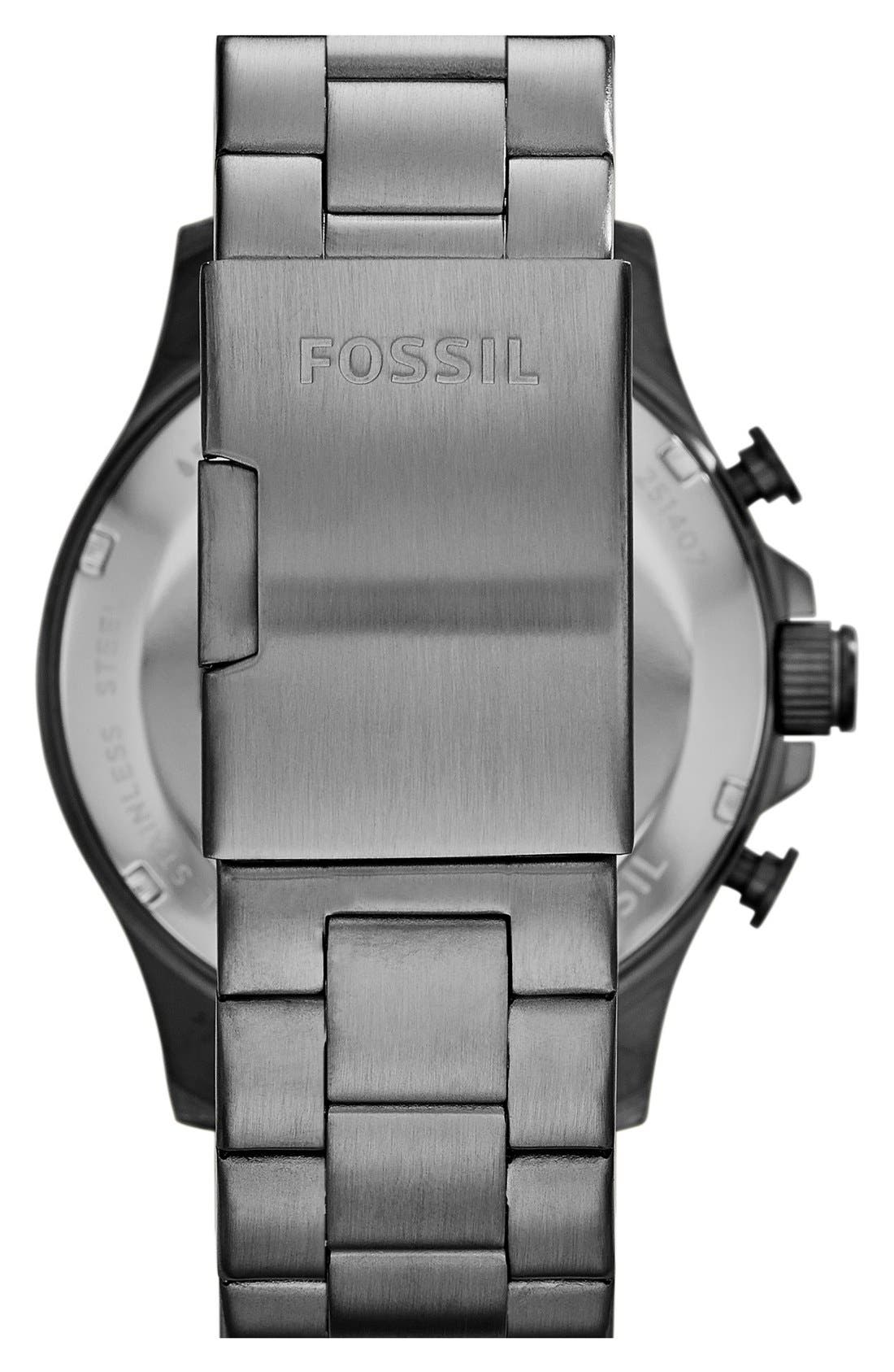 Alternate Image 2  - Fossil 'Nate' Chronograph Bracelet Watch, 46mm