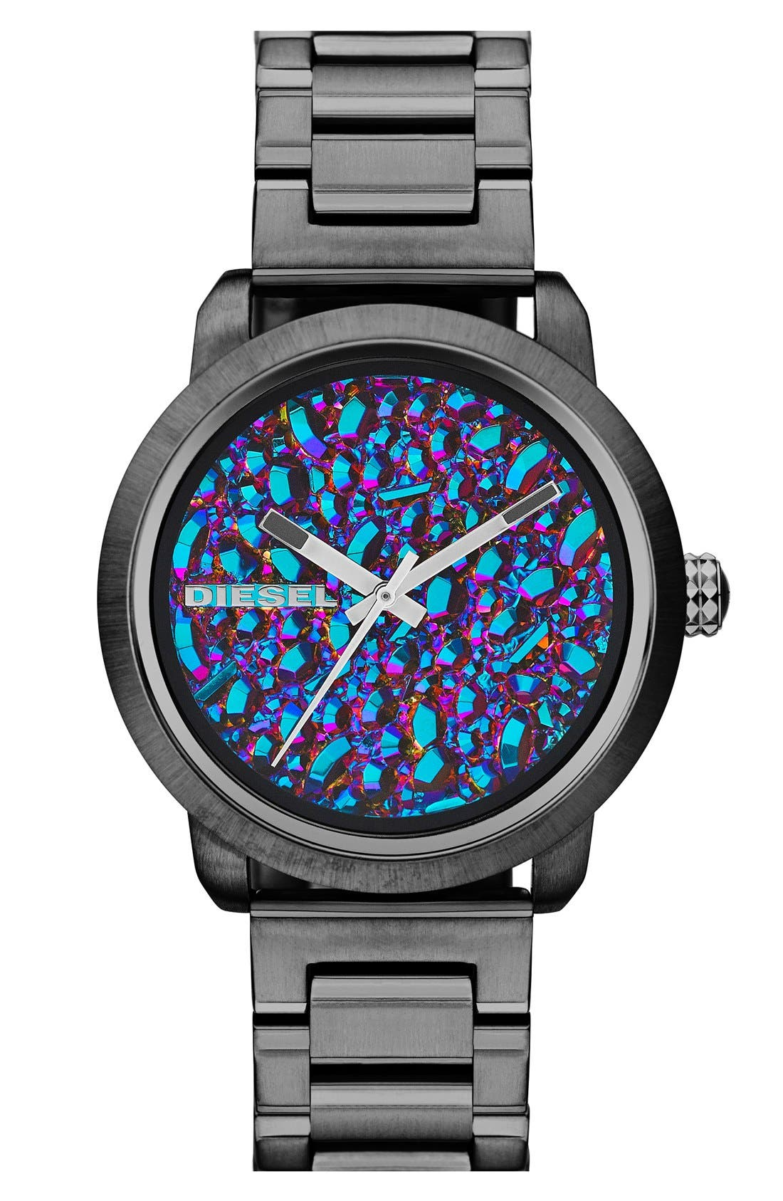 Alternate Image 1 Selected - DIESEL® 'Flare' Textured Dial Bracelet Watch, 38mm