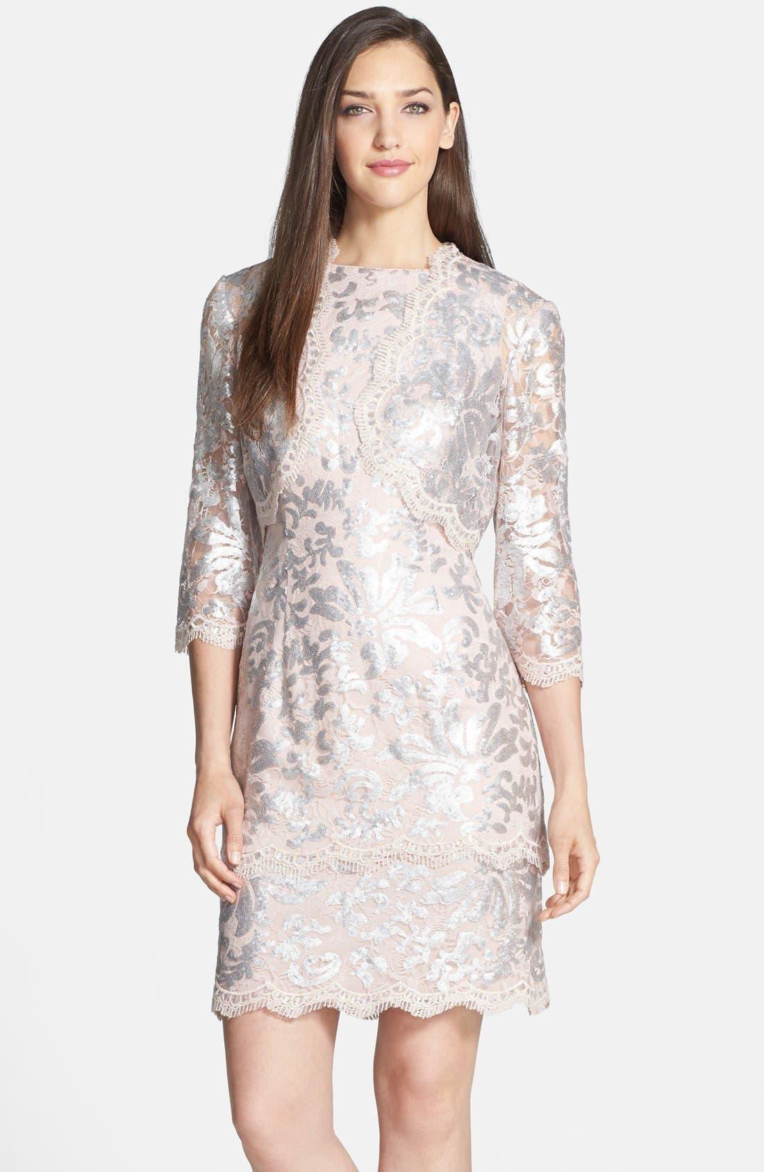 Main Image - Alex Evenings Sequin Lace Dress & Bolero