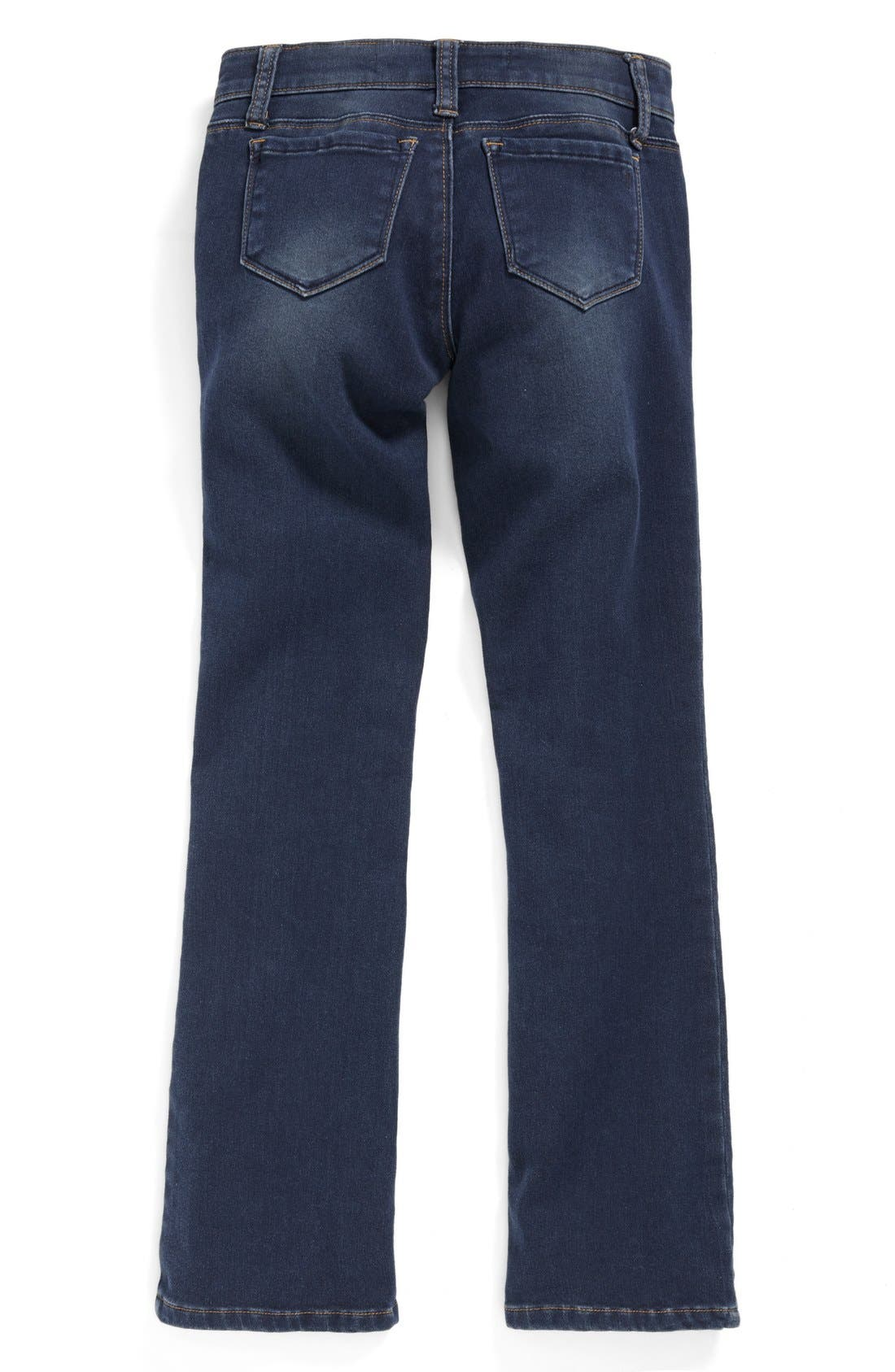 Alternate Image 2  - Tractr Bootcut Stretch Denim Jeans (Big Girls)