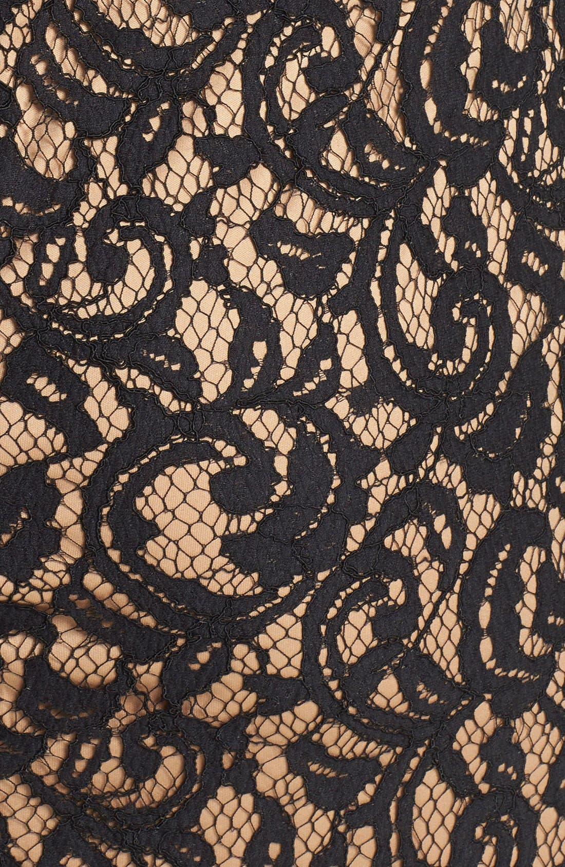 Alternate Image 4  - Tadashi Shoji Illusion Yoke Lace Sheath Dress