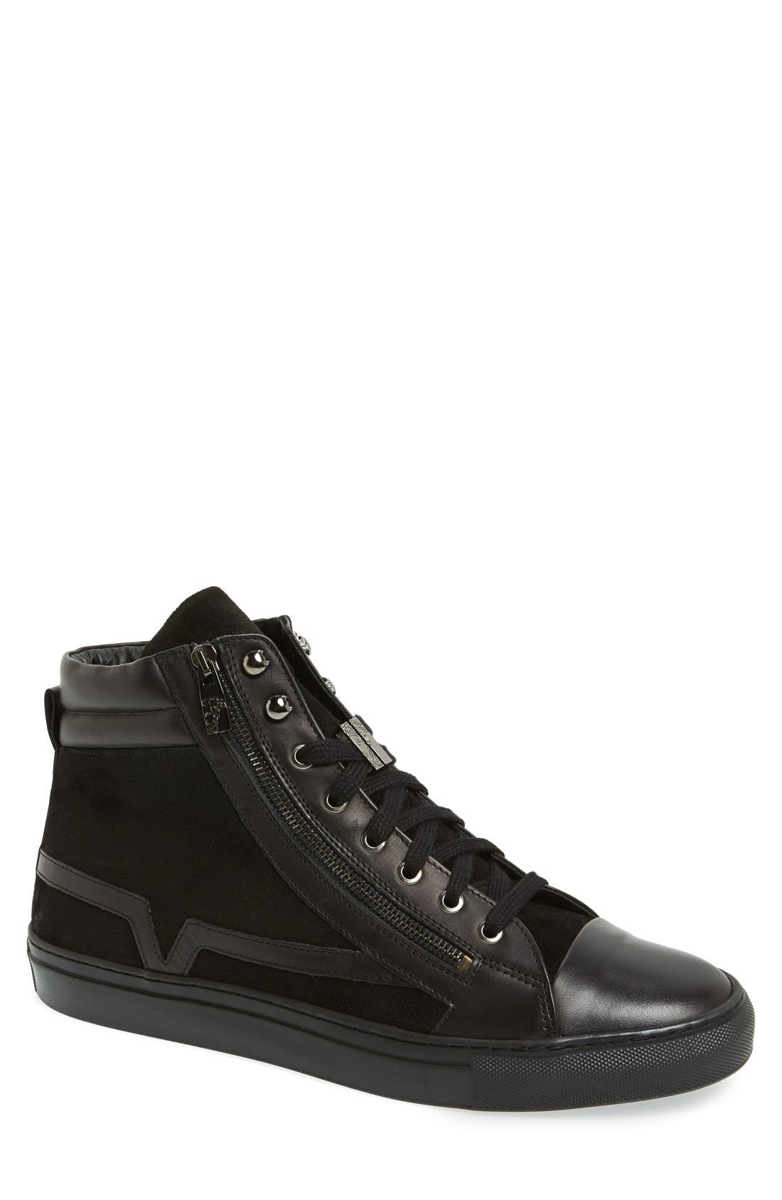 Alternate Image 1 Selected - Versace Collection Suede & Leather High Top Sneaker (Men)