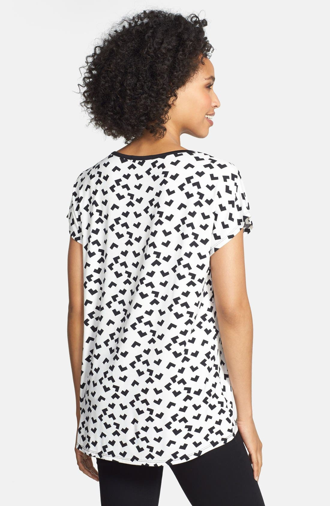 Alternate Image 2  - Olivia Moon Keyhole Neck Print Tee (Regular & Petite)
