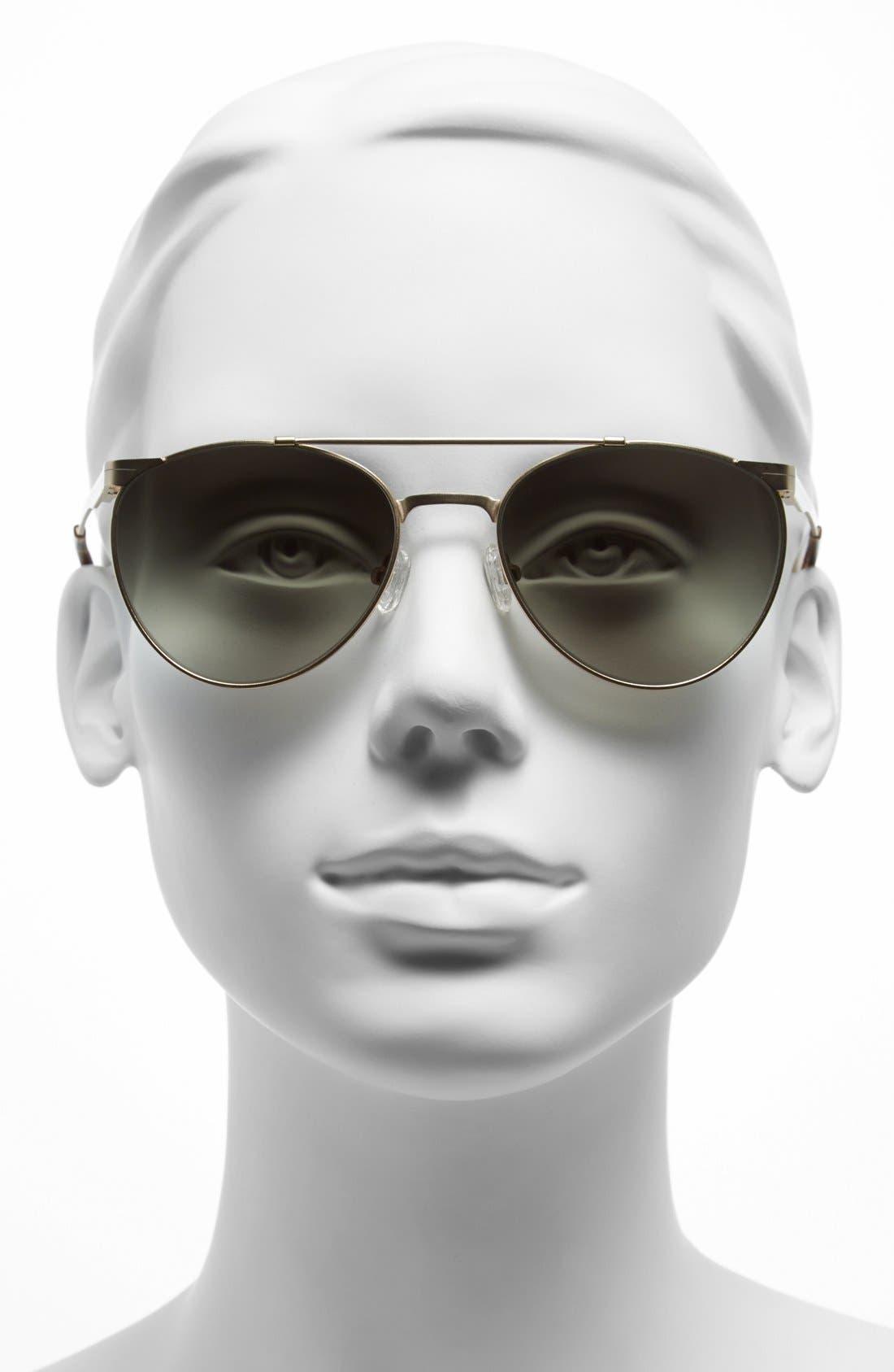 Alternate Image 2  - Elie Tahari 54mm Aviator Sunglasses