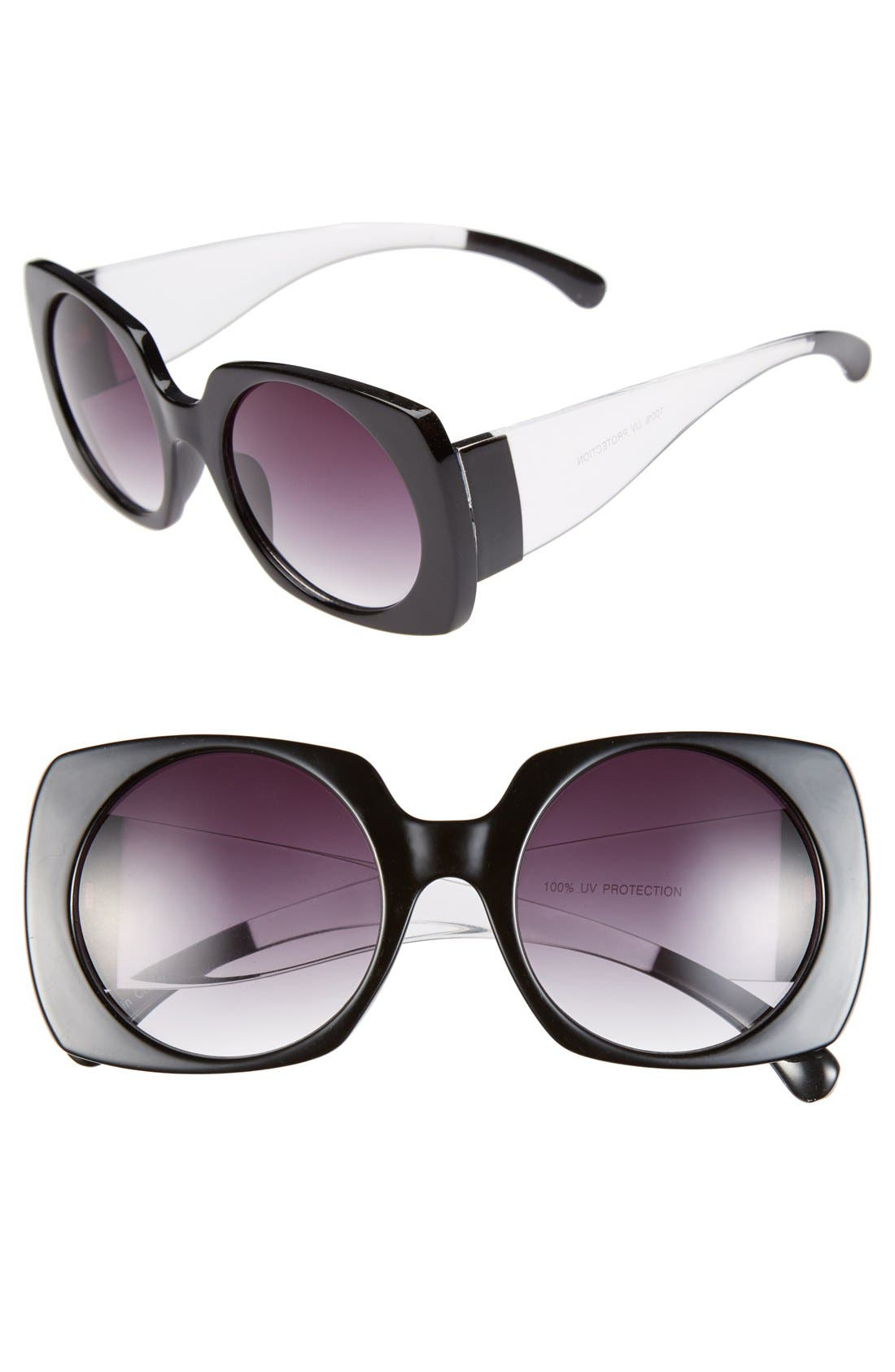 Alternate Image 1 Selected - FE NY 53mm Oversized Square Sunglasses
