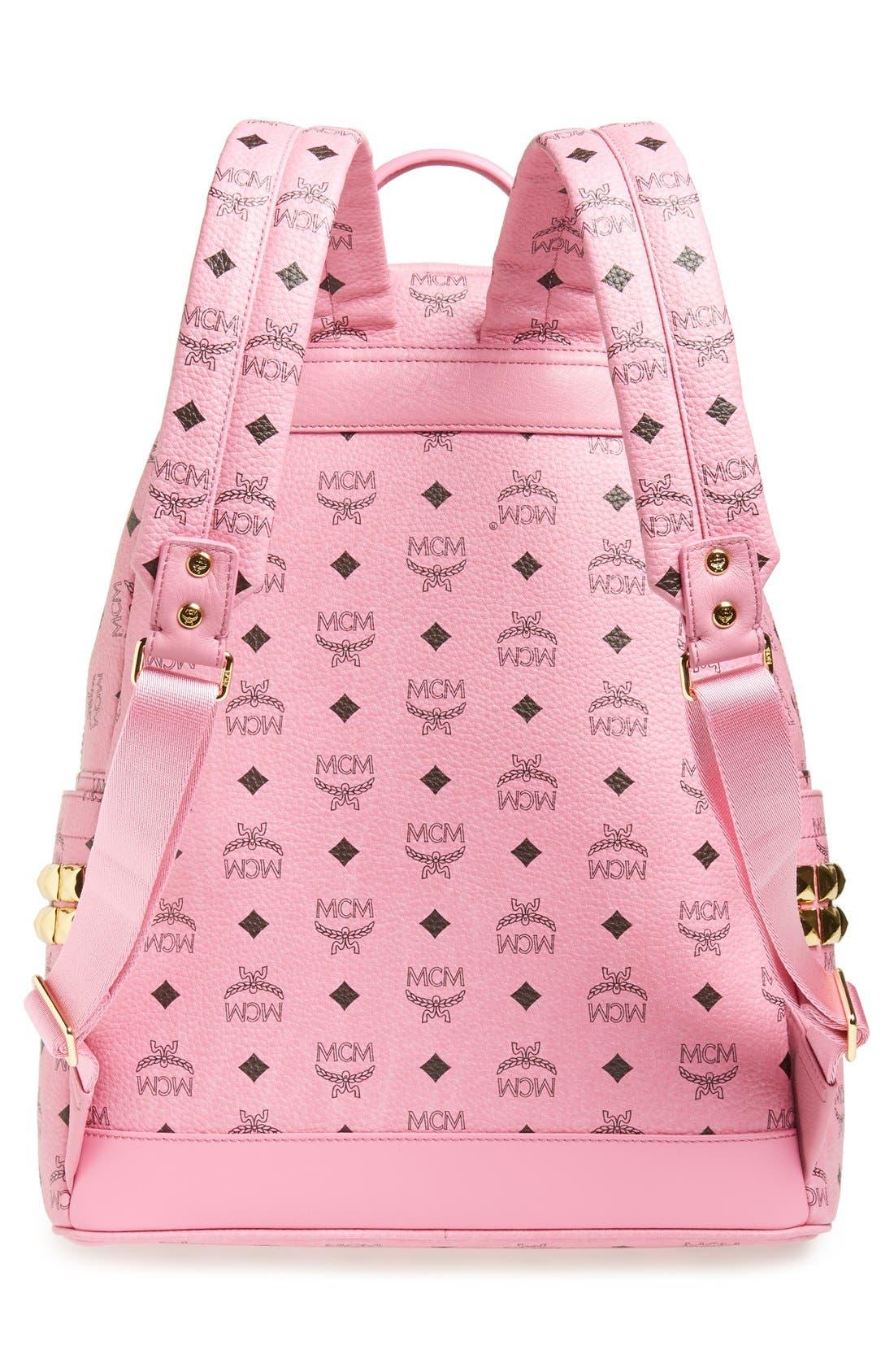 Alternate Image 3  - MCM 'Medium Stark - Visetos' Studded Backpack