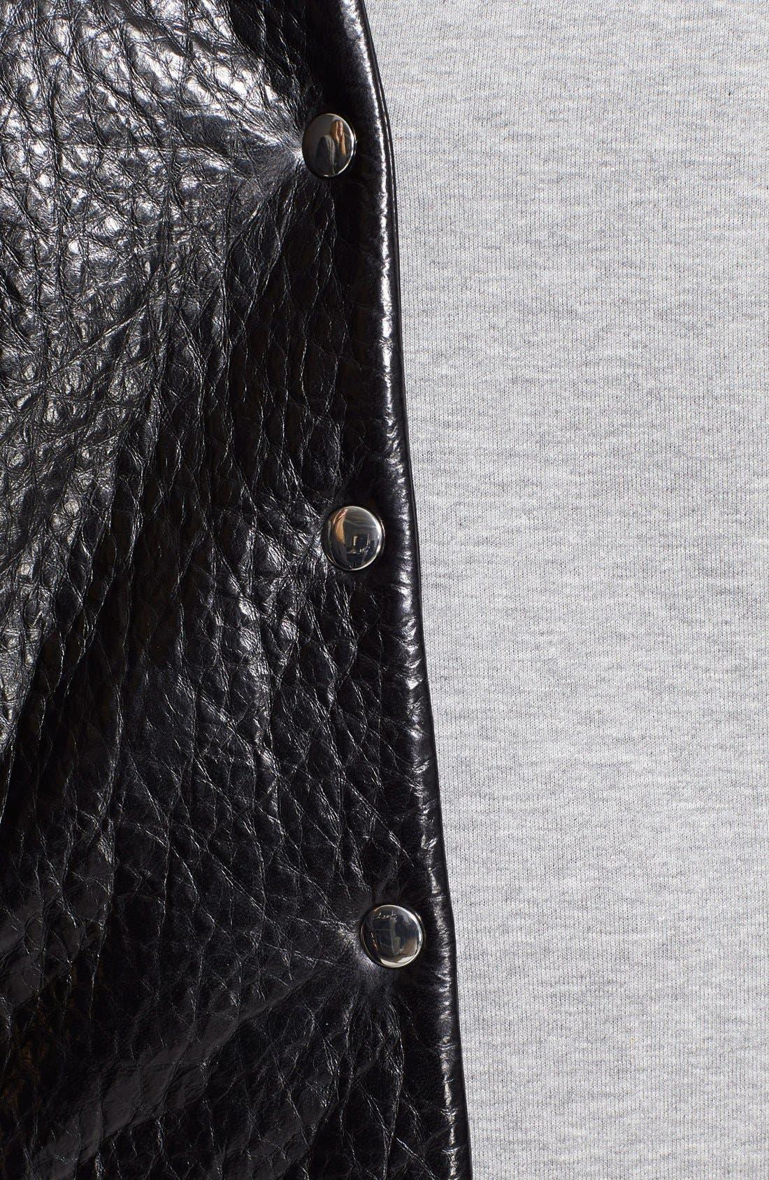 Alternate Image 4  - T by Alexander Wang Leather & Neoprene Varsity Jacket
