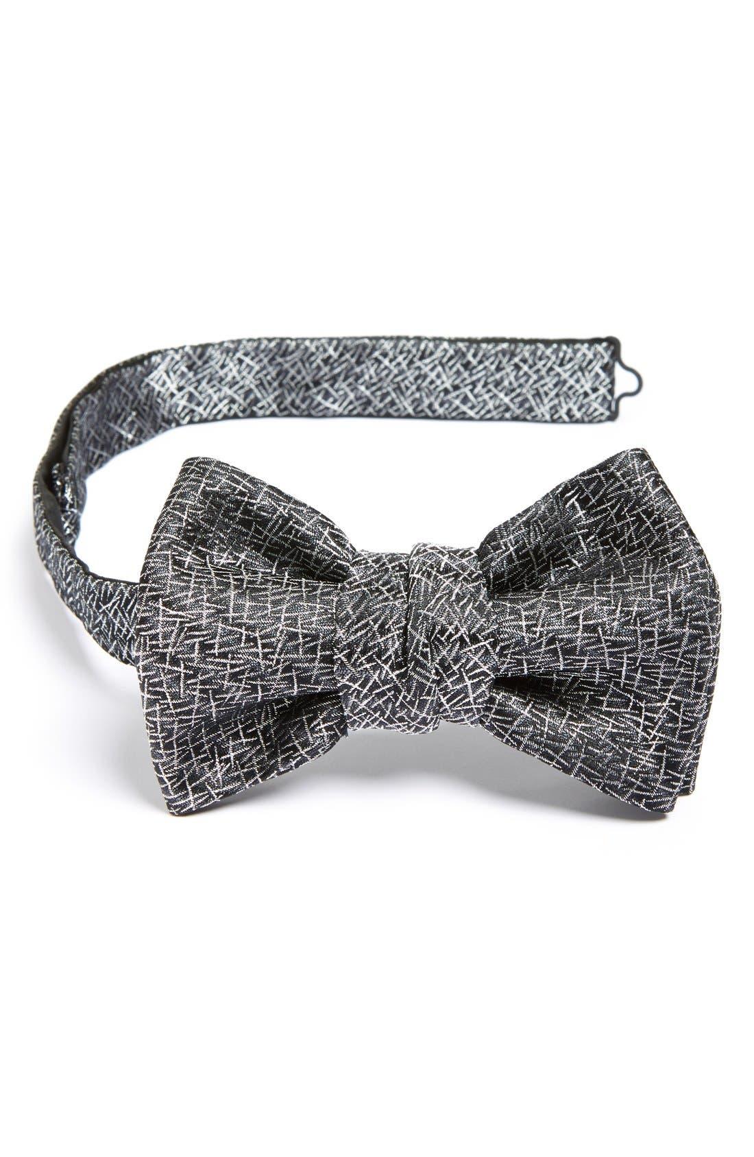 Alternate Image 1 Selected - Yves Saint Laurent 'Paris' Woven Silk Blend Bow Tie