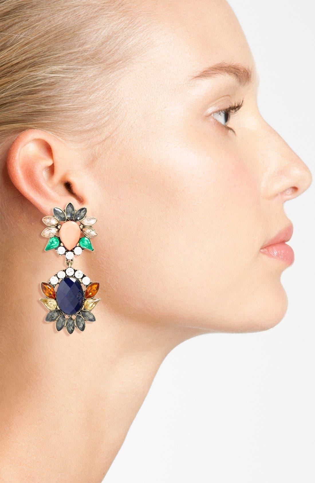 Alternate Image 2  - Cara Multi Jeweled Pendant Earrings