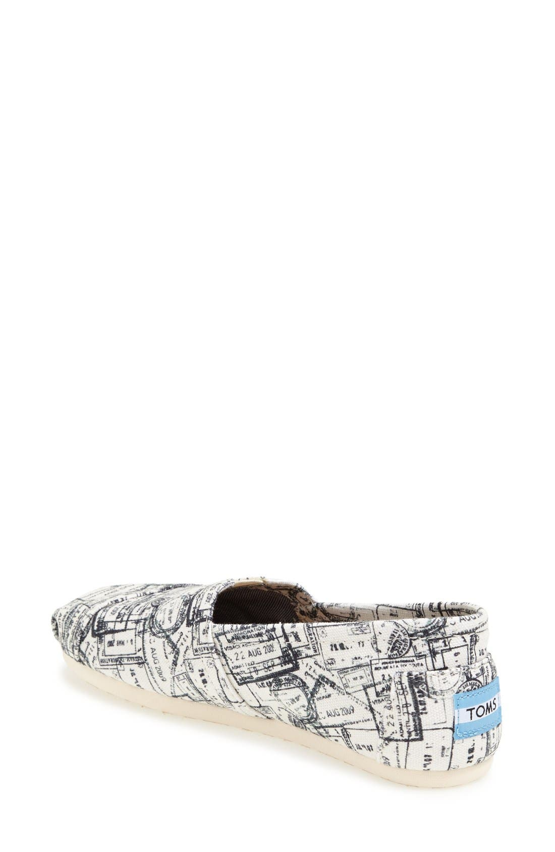 Alternate Image 2  - TOMS 'Classic - Passport Stamps' Slip-On (Nordstrom Exclusive)(Women)