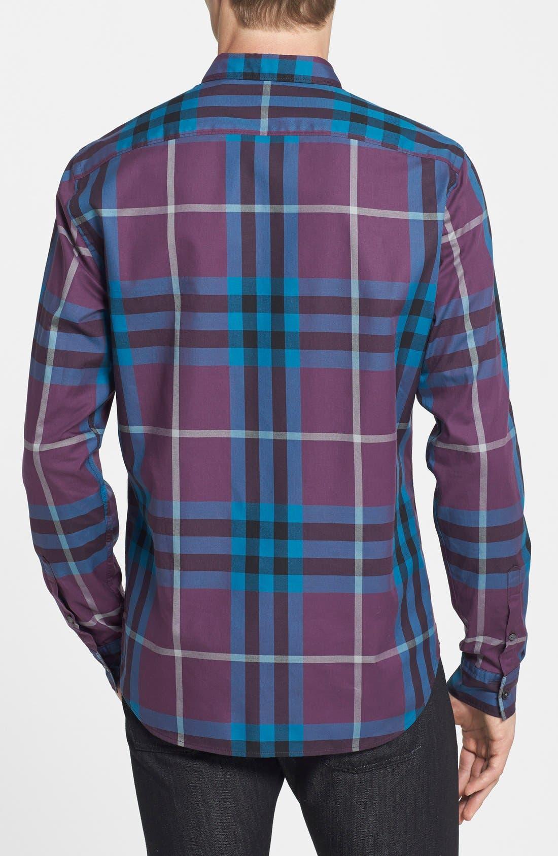 Alternate Image 2  - Burberry Brit Trim Fit Check Sport Shirt
