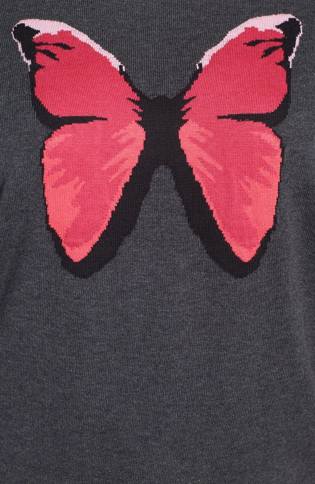 Alternate Image 3  - Halogen® Long Sleeve Intarsia Sweater (Plus Size)