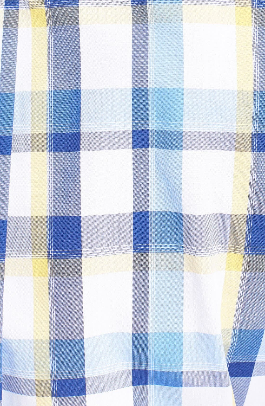 Alternate Image 3  - Cutter & Buck 'Pierce' Classic Fit Plaid Poplin Sport Shirt (Big & Tall)
