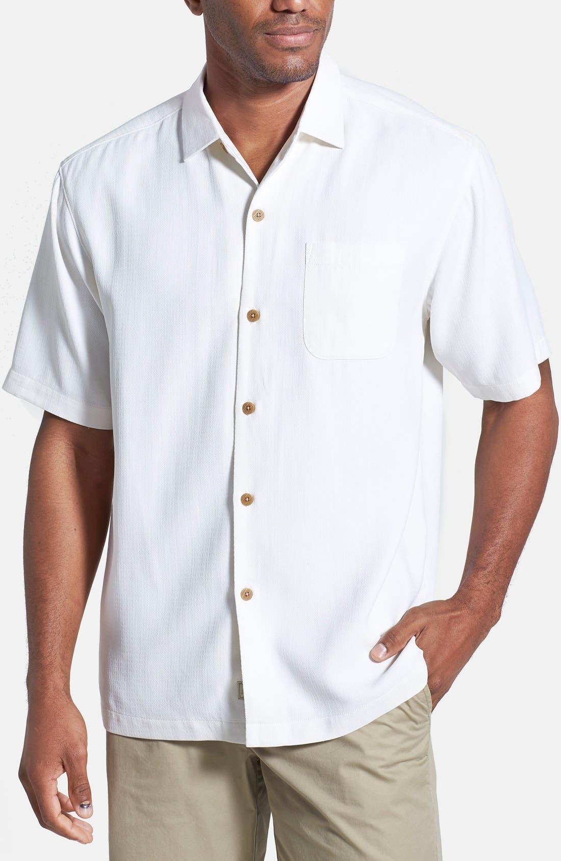 Main Image - Tommy Bahama 'Isla Diamond' Original Fit Silk Camp Shirt