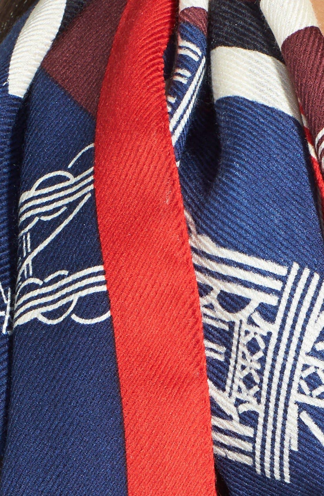 Alternate Image 3  - KENZO 'Tour Eiffel' Wool & Silk Scarf