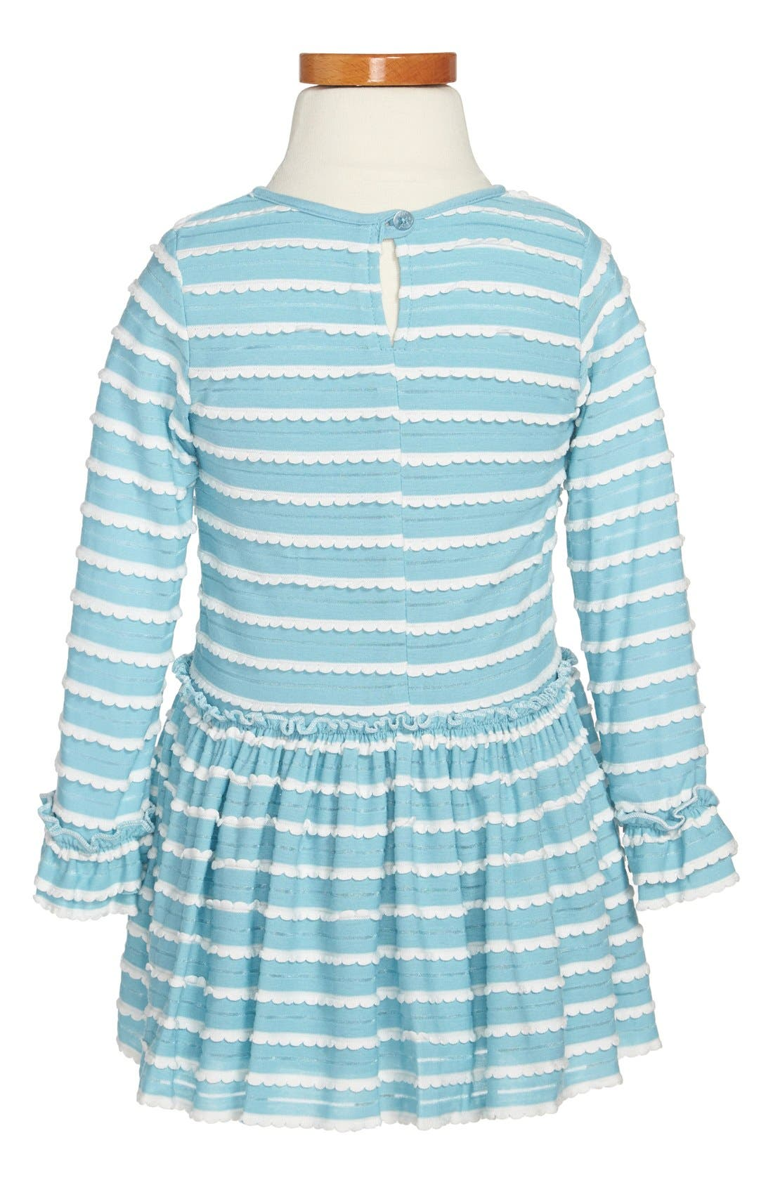 Alternate Image 2  - Pippa & Julie Scallop Knit Dress (Toddler Girls & Little Girls)