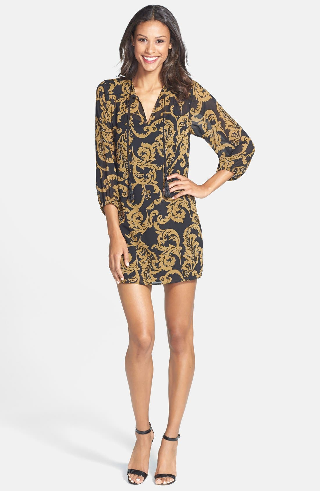 Alternate Image 3  - CeCe by Cynthia Steffe 'Kai' Print Chiffon Tunic Dress