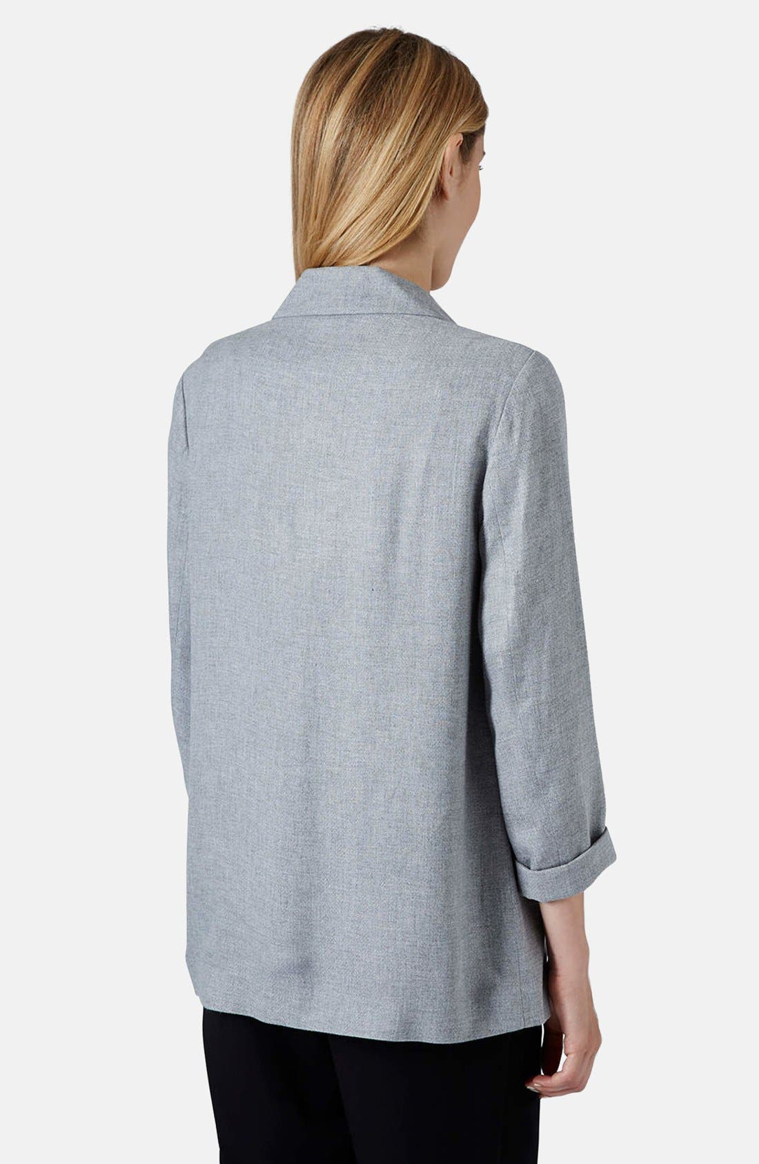 Alternate Image 2  - Topshop 'Longline' Slouchy Blazer