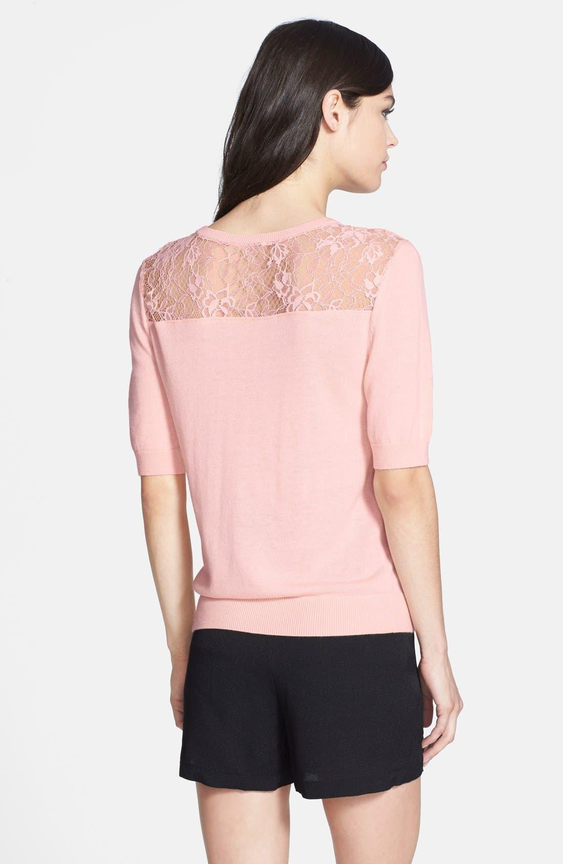 Alternate Image 2  - Chelsea28 Lace Yoke Sweater