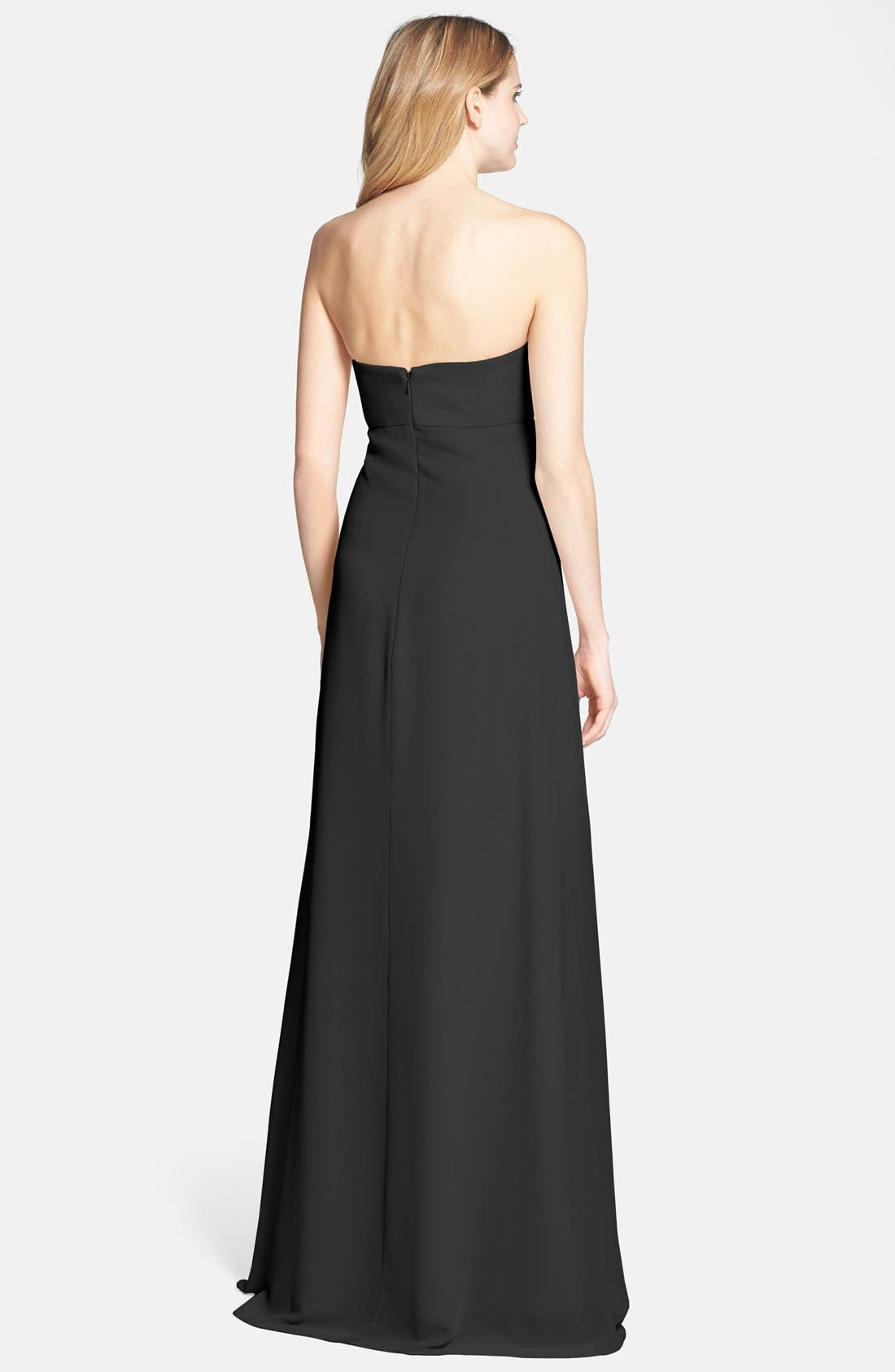 Alternate Image 2  - Jenny Yoo 'Suri' Convertible Strapless Chiffon Dress