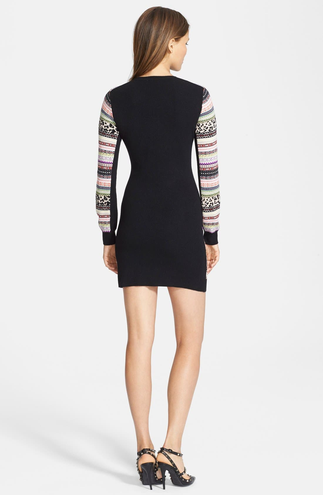Alternate Image 2  - RED Valentino Jacquard Sweater Dress