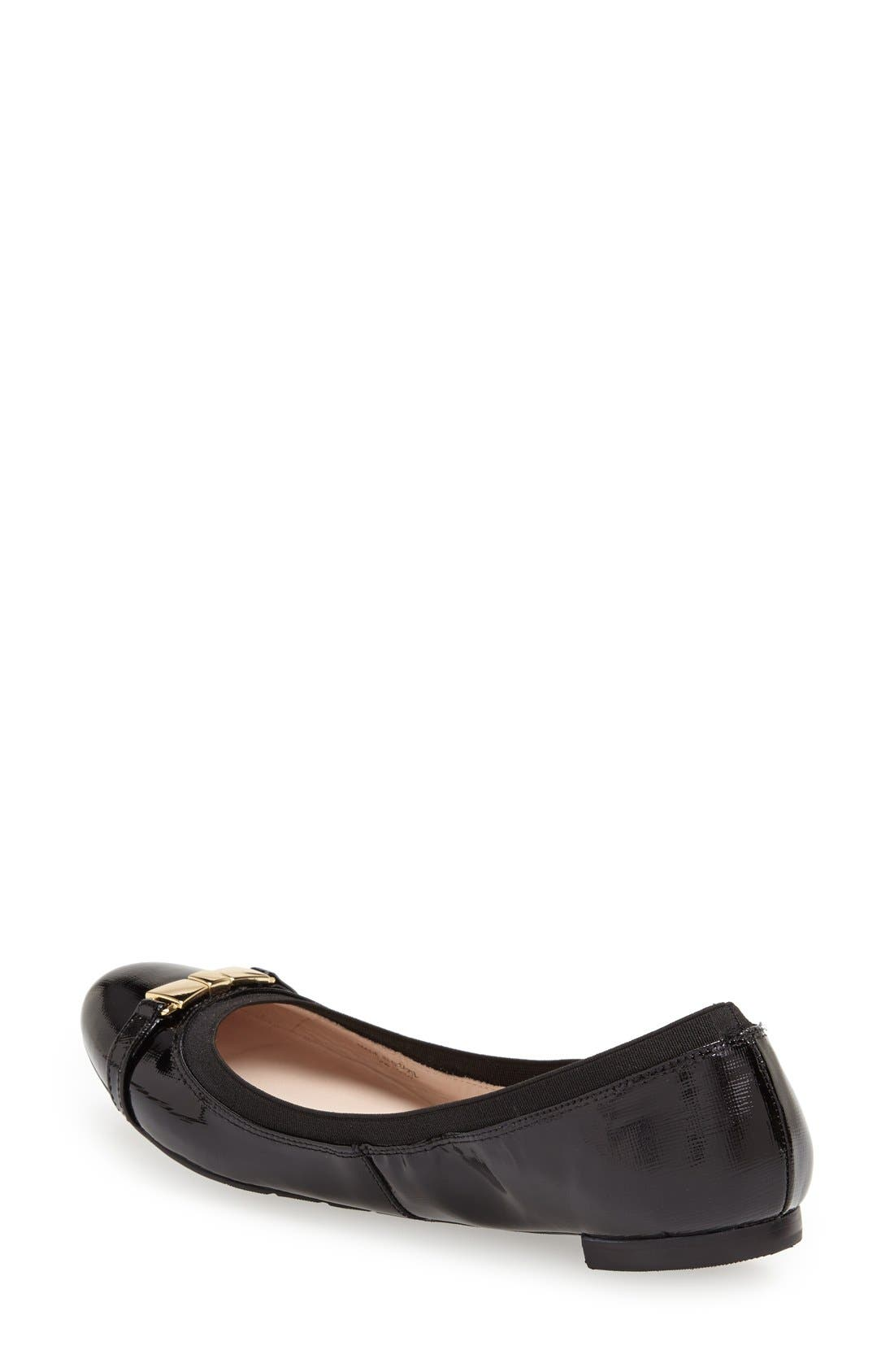 Alternate Image 2  - kate spade new york 'blaine' patent leather skimmer flat (Women)