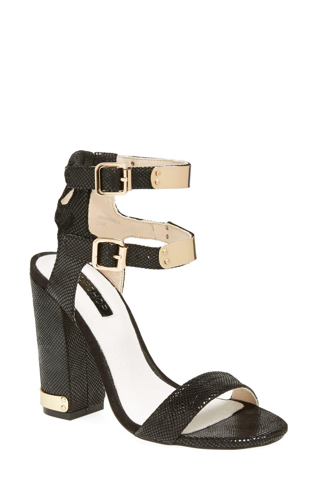 Main Image - Topshop 'Rodeo' Double Strap Sandal