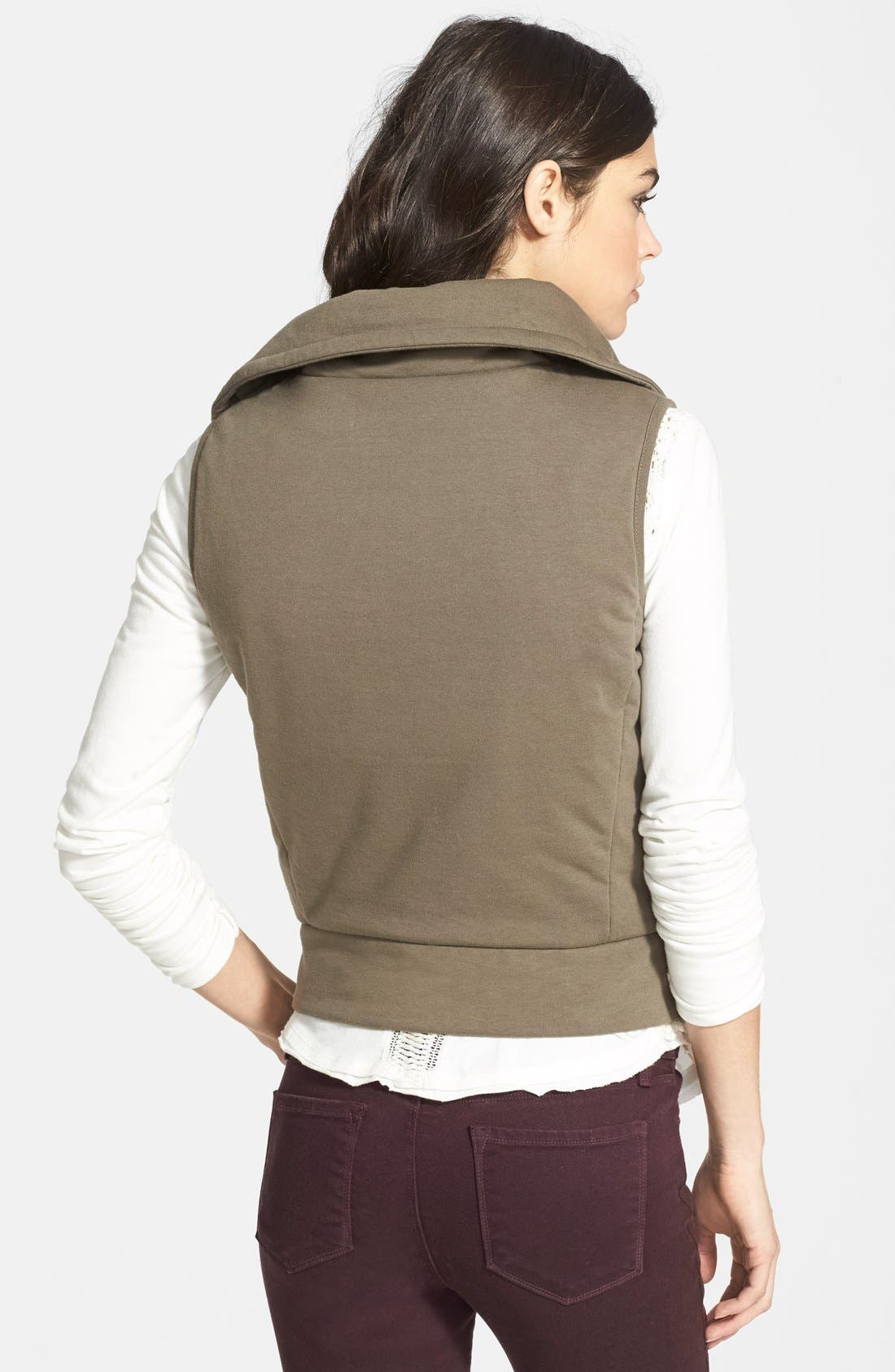 Alternate Image 2  - Splendid 'Bridger' Cotton Moto Vest (Nordstrom Online Exclusive)