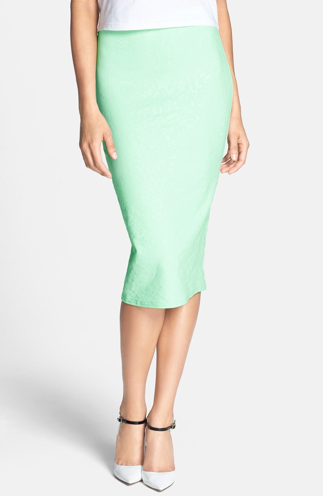 Main Image - Glamorous Print Midi Skirt
