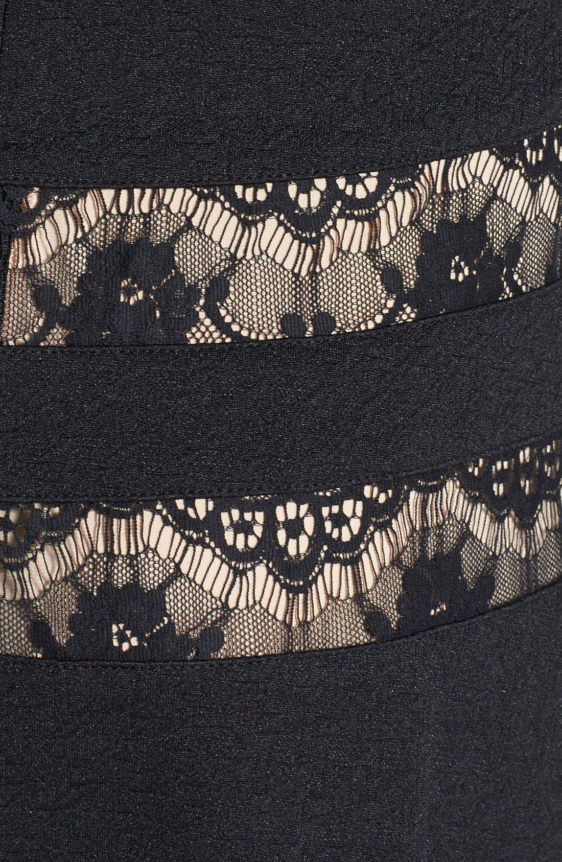 Alternate Image 3  - ERIN erin fetherston 'Millie' Lace Inset Ponte Fit & Flare Dress