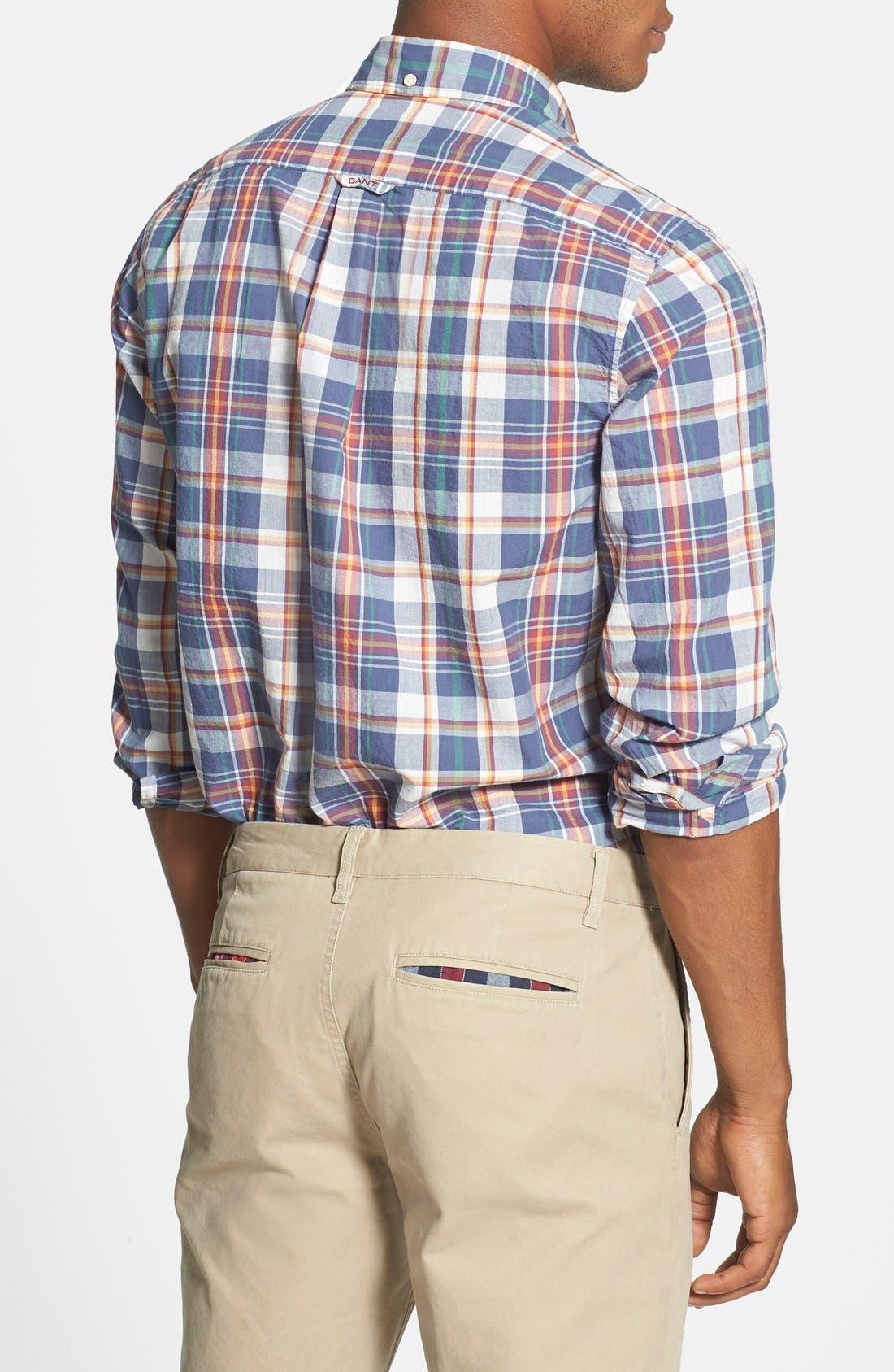 Alternate Image 2  - Gant 'Handloom' Regular Fit Madras Sport Shirt