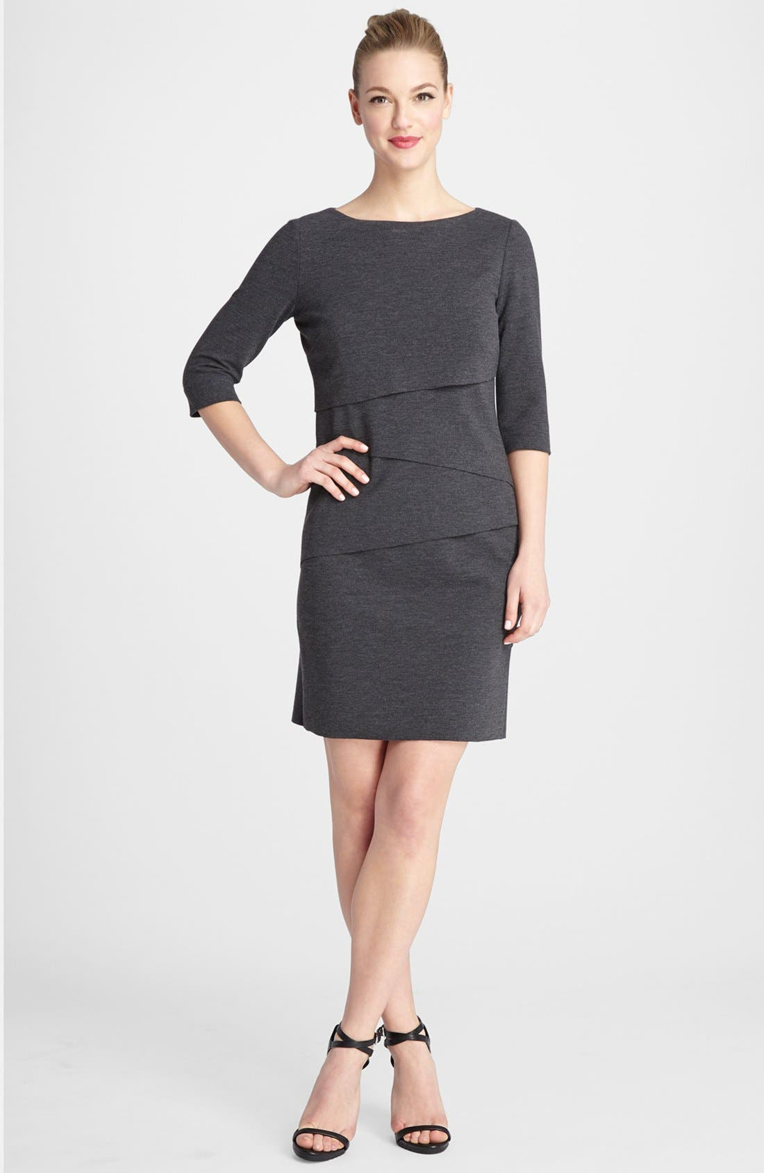 Main Image - Tahari Tiered Knit Shift Dress
