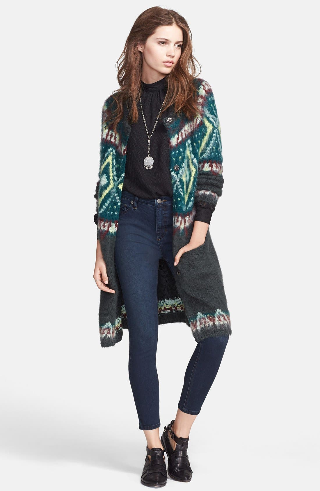 Alternate Image 1 Selected - Free People Frosted Fair Isle Cardigan
