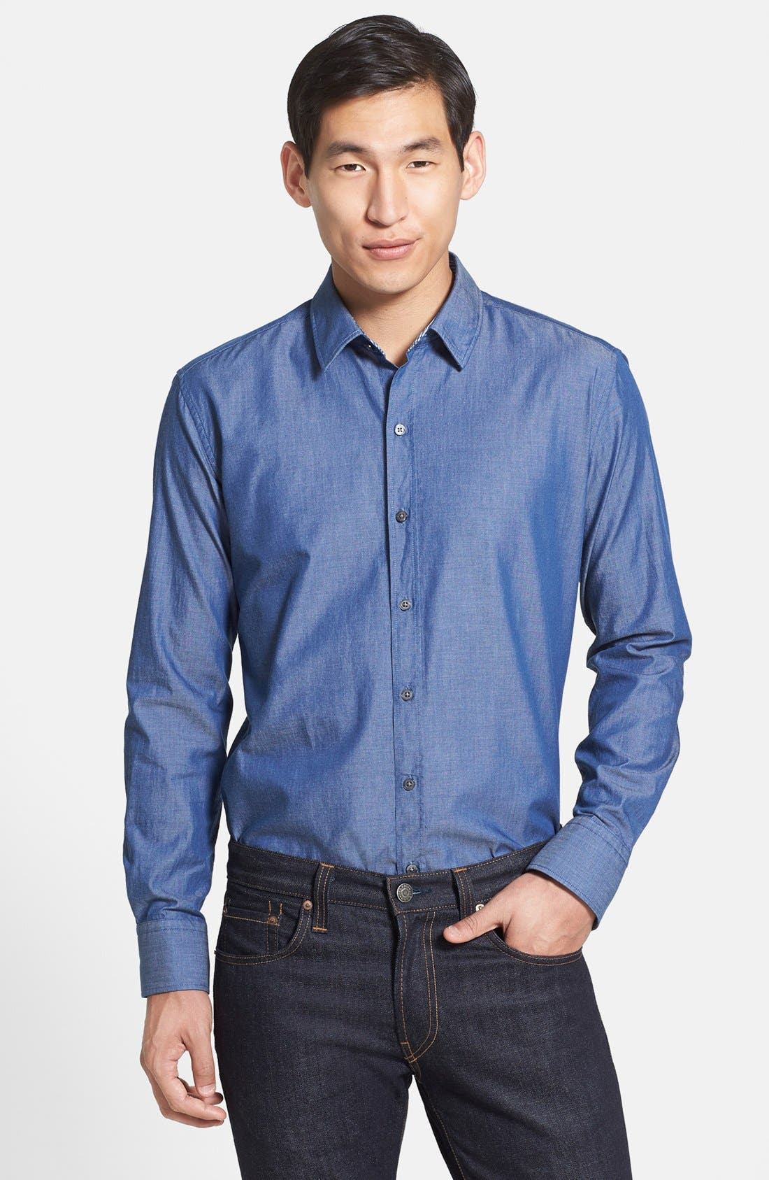 Alternate Image 1 Selected - BOSS HUGO BOSS 'Robbie' Slim Fit Sport Shirt