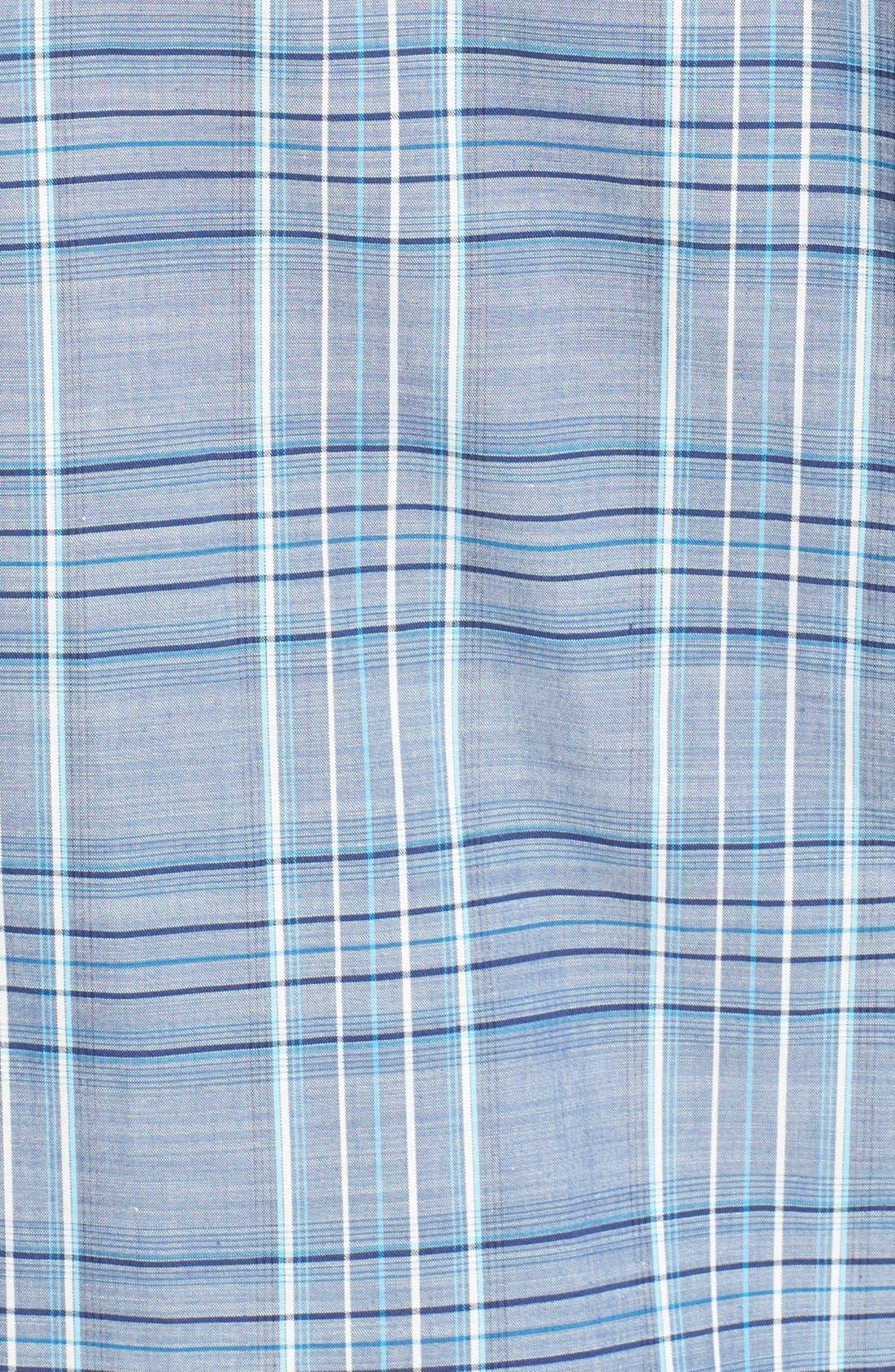 Alternate Image 3  - Zachary Prell 'Deeb' Standard Fit Short Sleeve Windowpane Plaid Sport Shirt