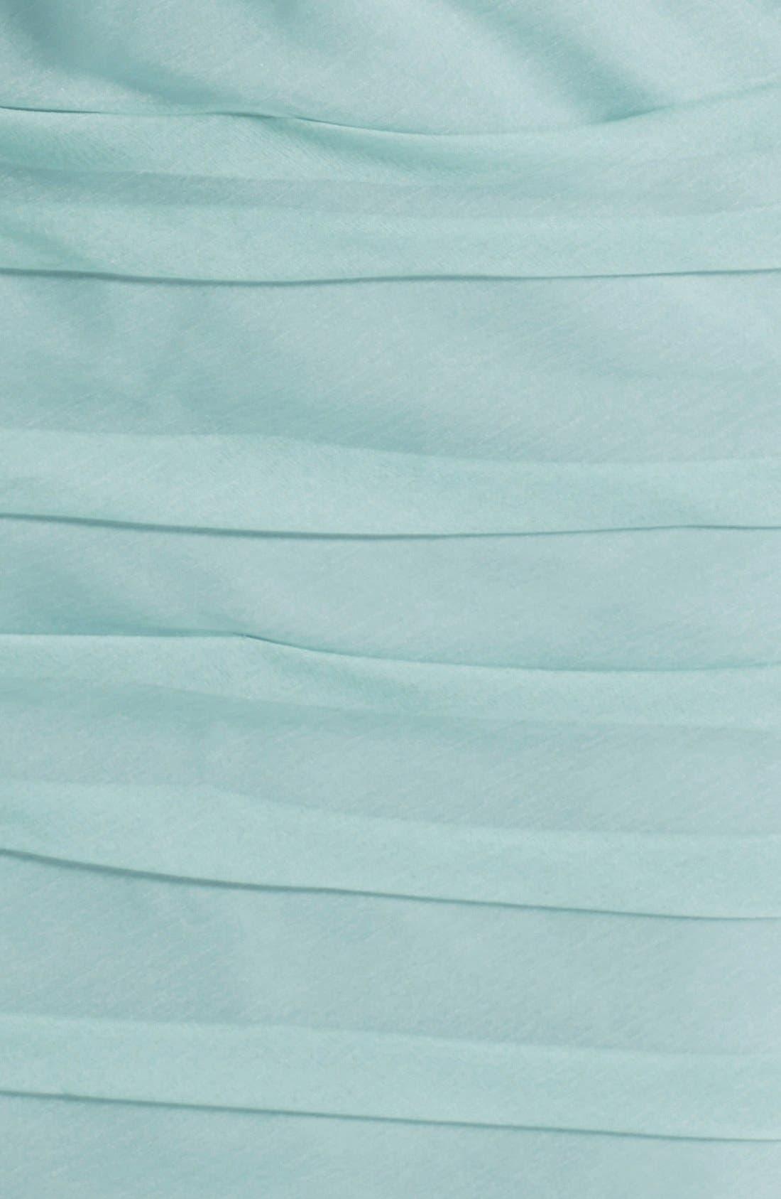 Alternate Image 3  - ML Monique Lhuillier Bridesmaids Ruched Strapless Cationic Chiffon Dress (Nordstrom Exclusive) (Plus Size)