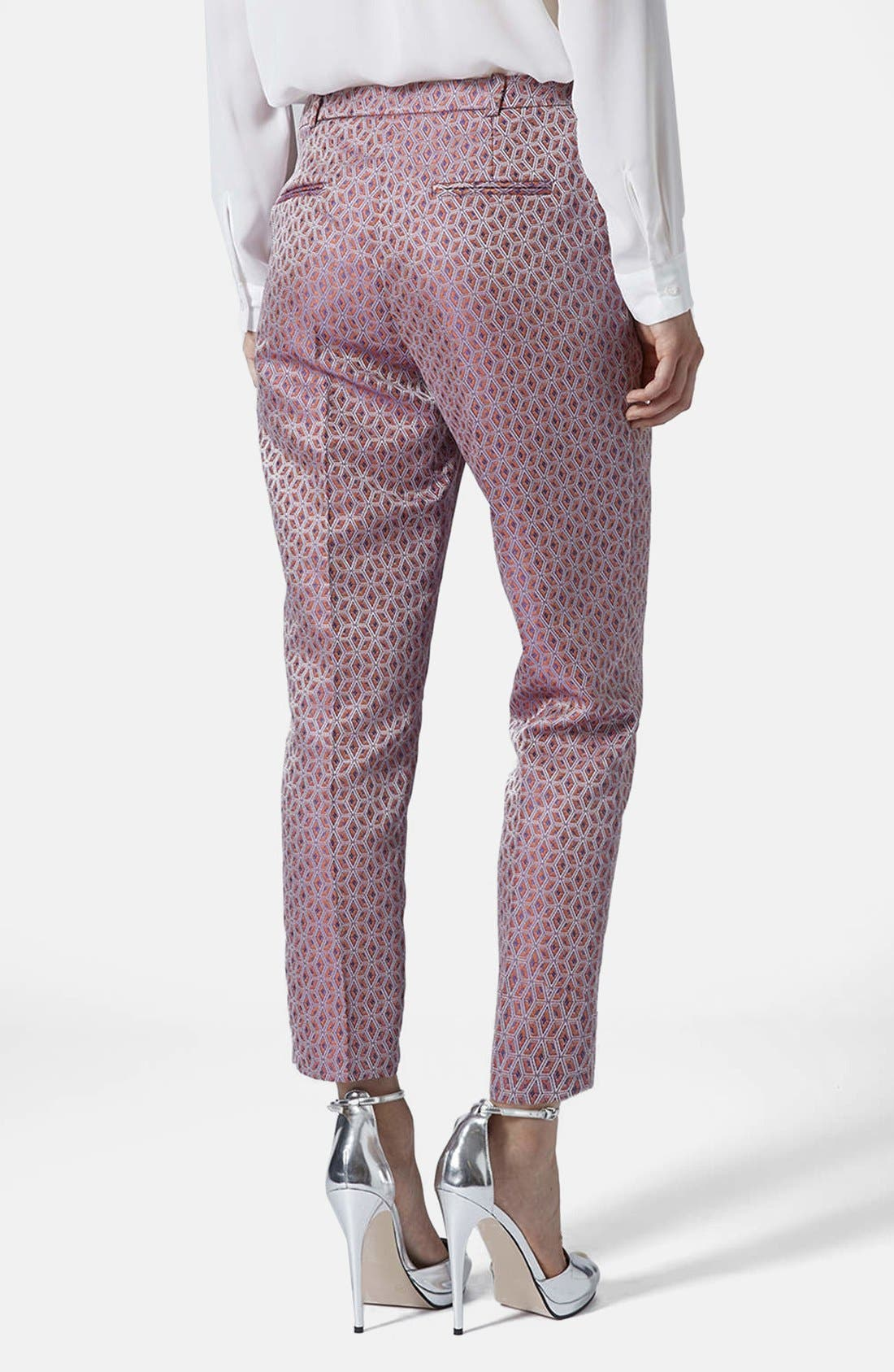 Alternate Image 2  - Topshop Jacquard Cigarette Pants