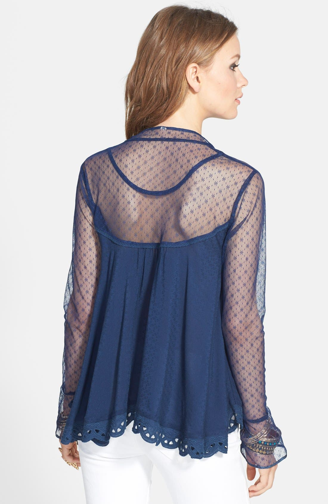 Alternate Image 2  - Free People 'Black Magic' Cutout Blouse