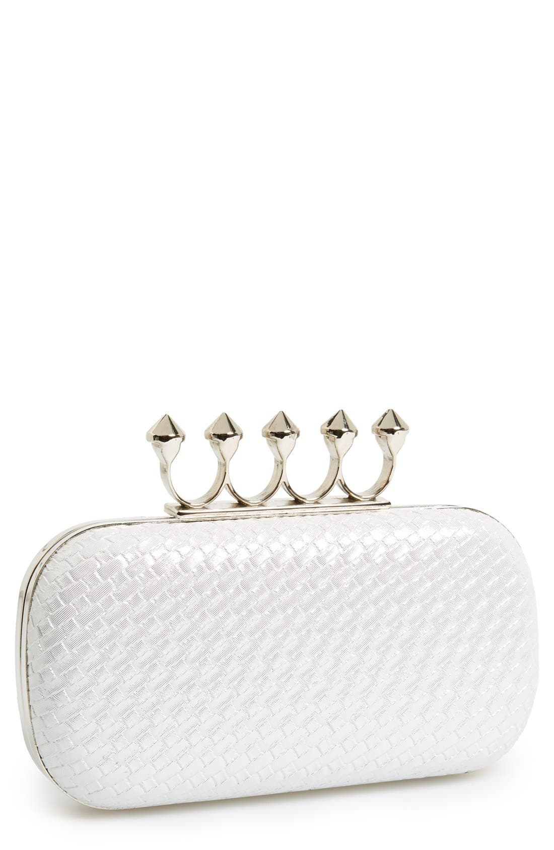 Alternate Image 1 Selected - Natasha Couture Knuckle Clasp Minaudiere